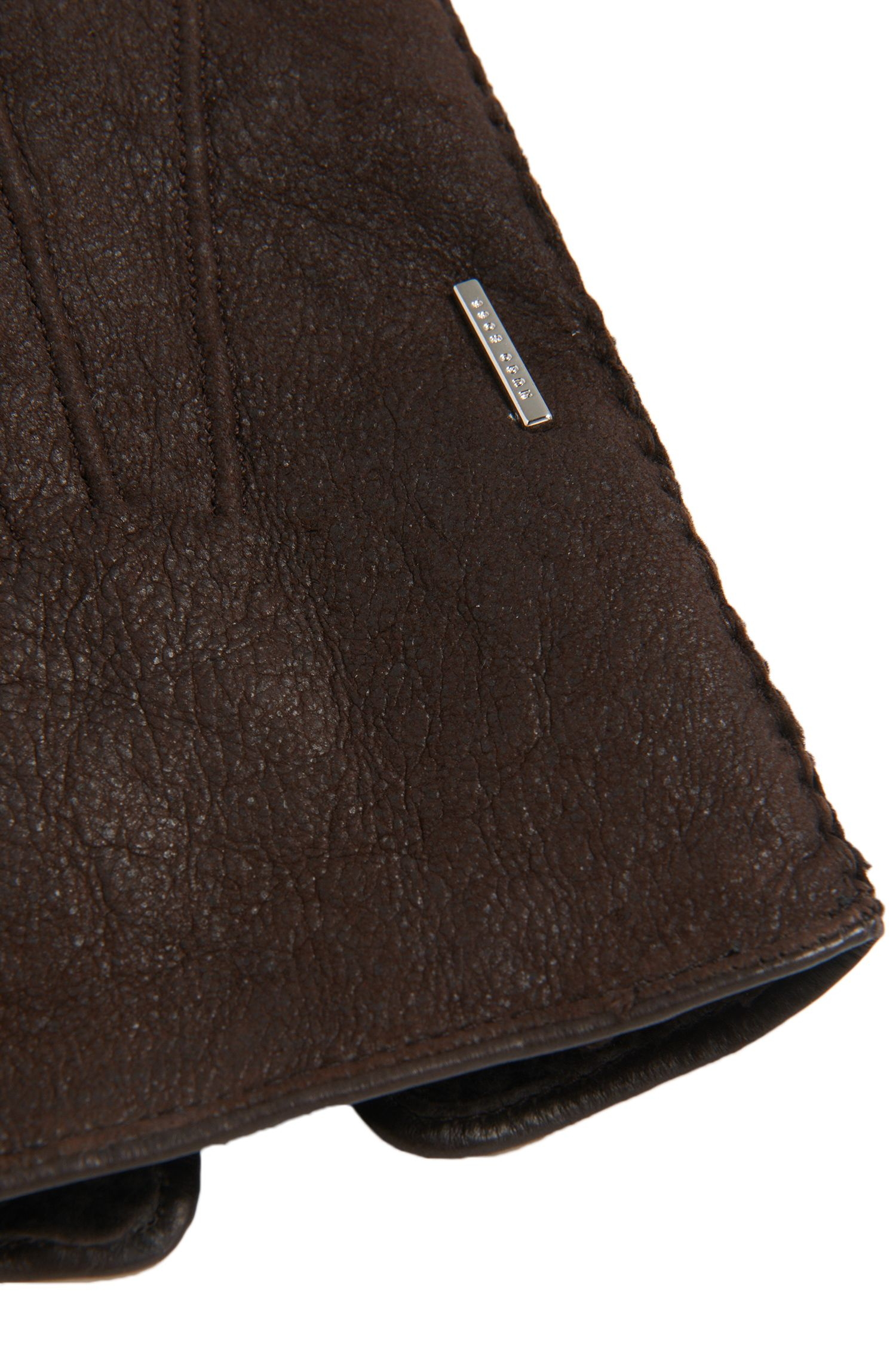 Tailored Handschuhe aus Leder mit Lammfell-Futter: 'T- Hebis'