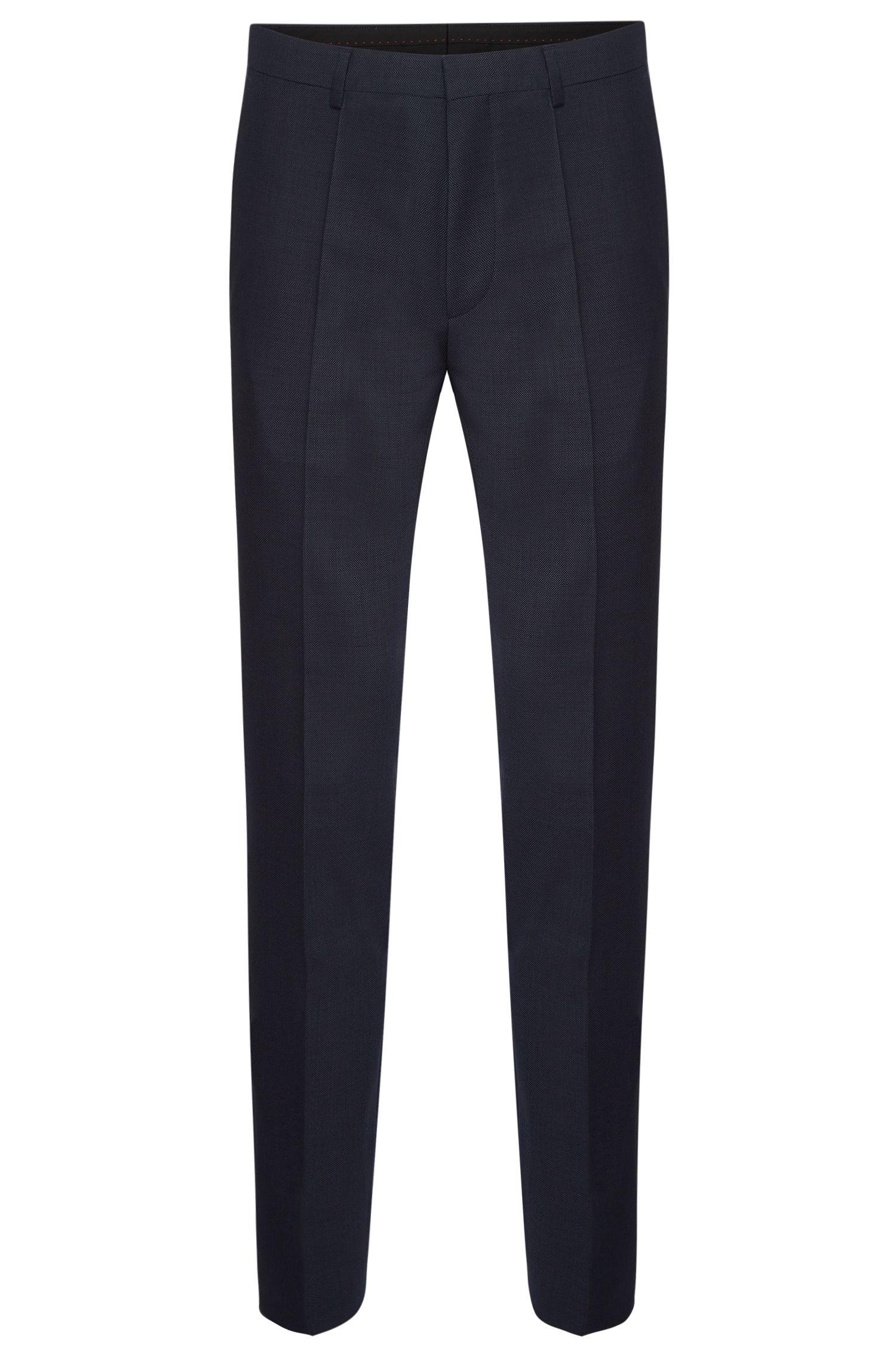 Fijngestructureerde extra slim-fit broek van scheerwol: 'HerioS'