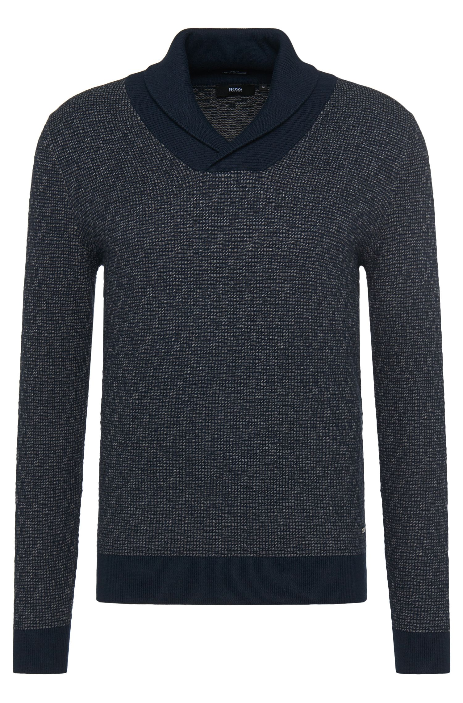 Slim-fit sweater in cotton blend with cashmere: 'Baik'