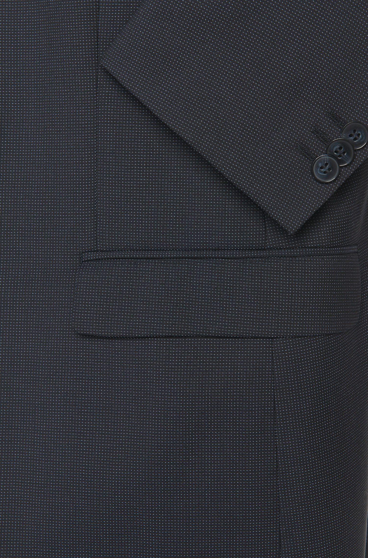 Slim-fit colbert van fijngestructureerde scheerwol: 'AlisterS'