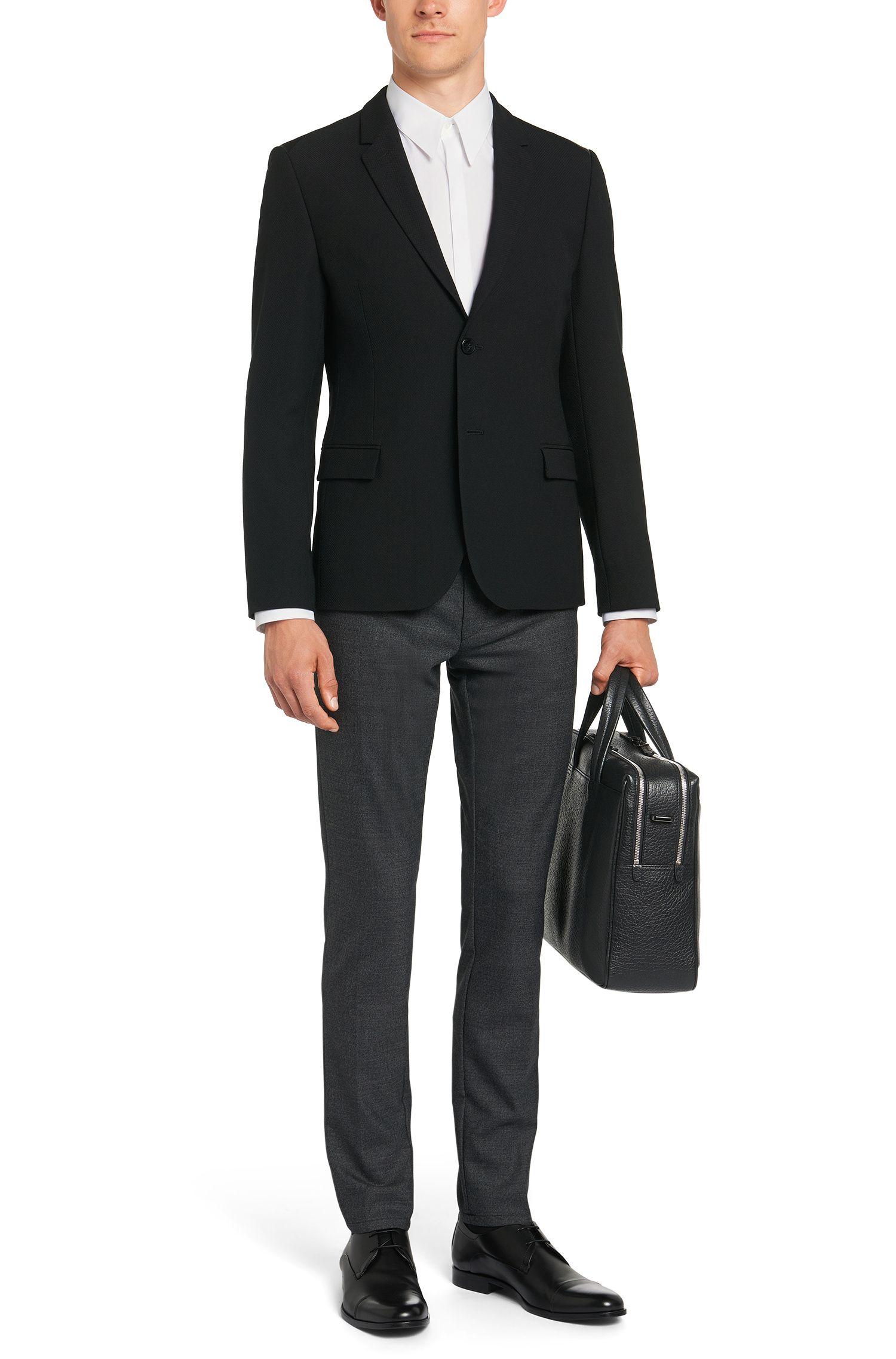 Slim-Fit-Hemd aus Stretch-Baumwolle mit verdeckter Knopfleiste: 'Enek'