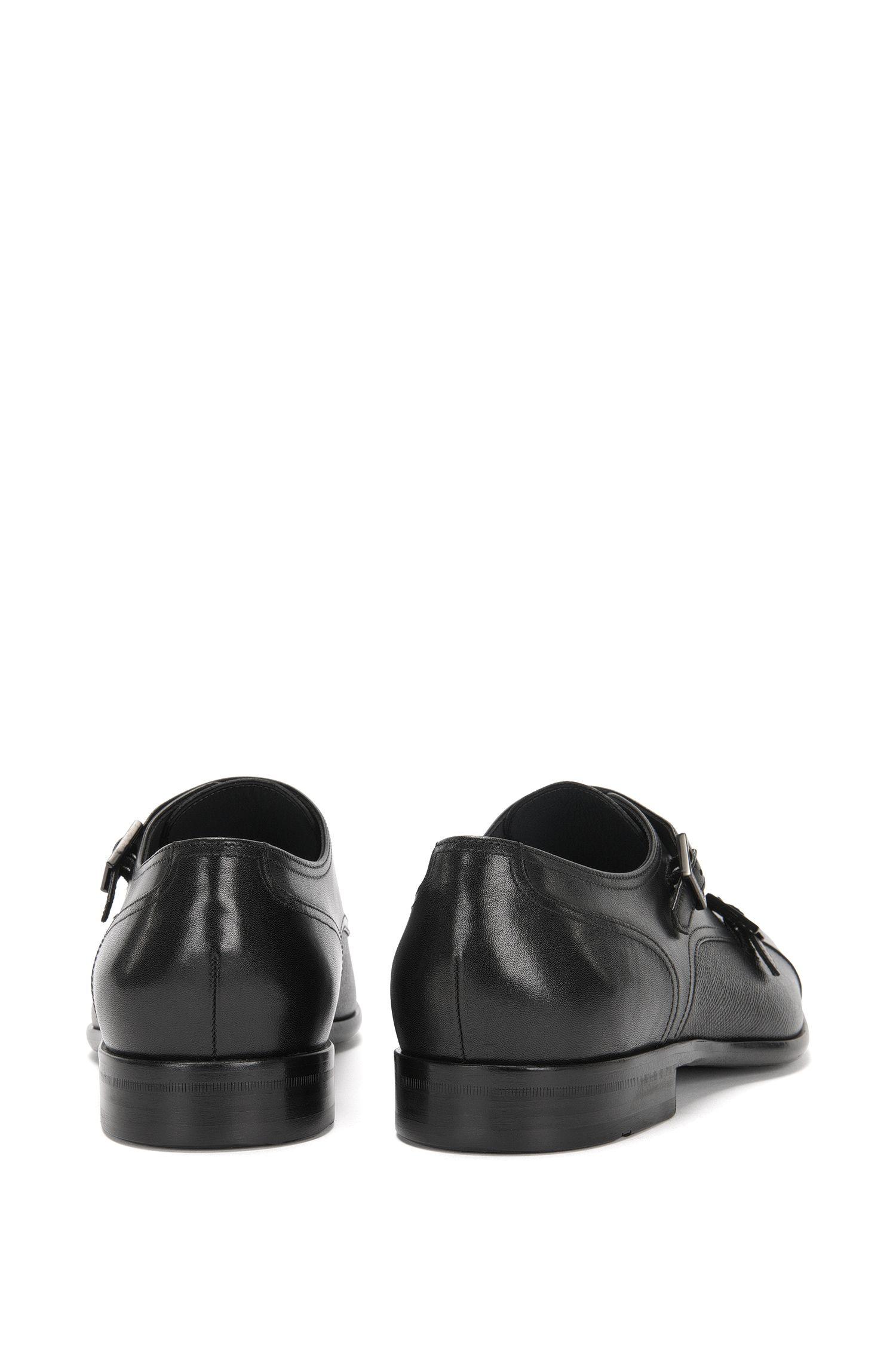 Chaussures à double boucle en cuir à structure mélangée: «Manhattan_Monk_mxct»