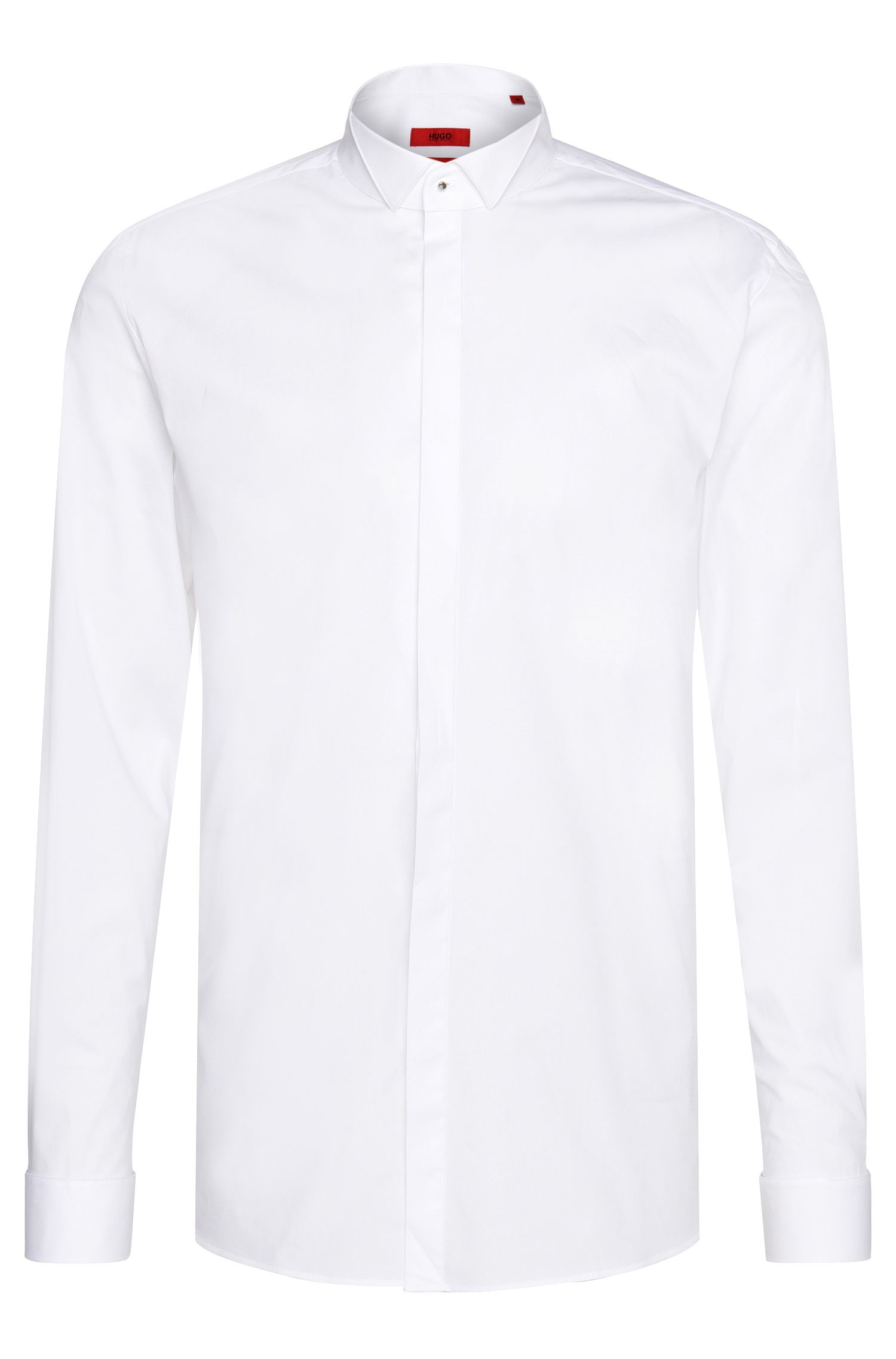 Chemise de smoking Slim Fit en coton extensible : « Escot »