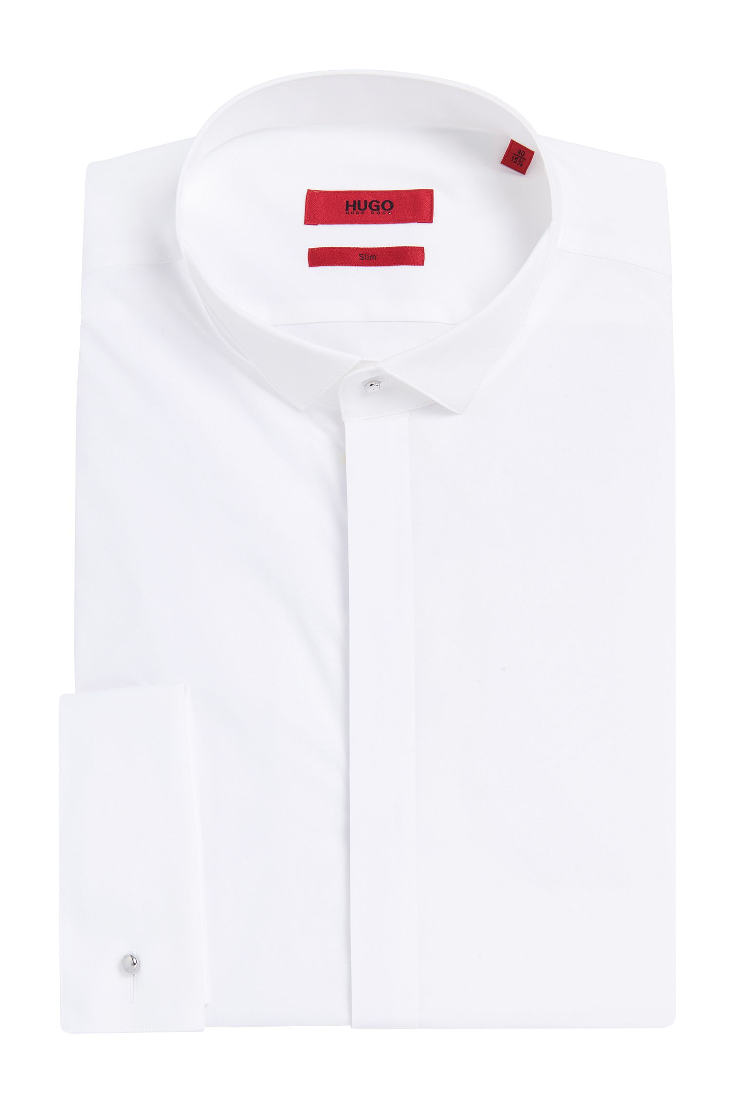 Slim-Fit Smokinghemd aus elastischer Baumwolle: 'Escot'