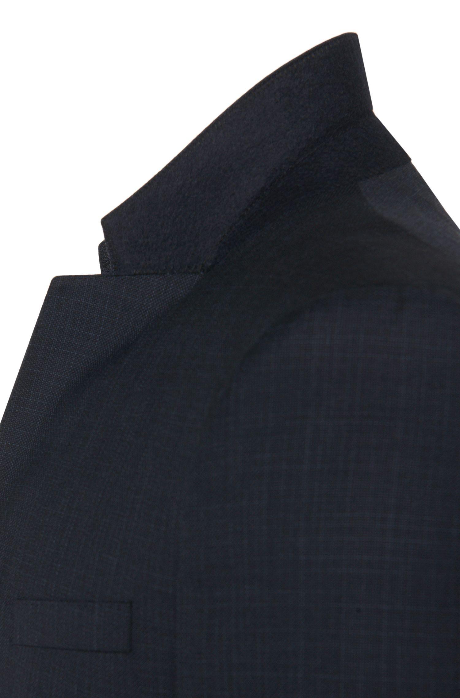Costume trois pièces Slim Fit à rayures discrètes en laine vierge: «Adwart/Wilard/Hets»