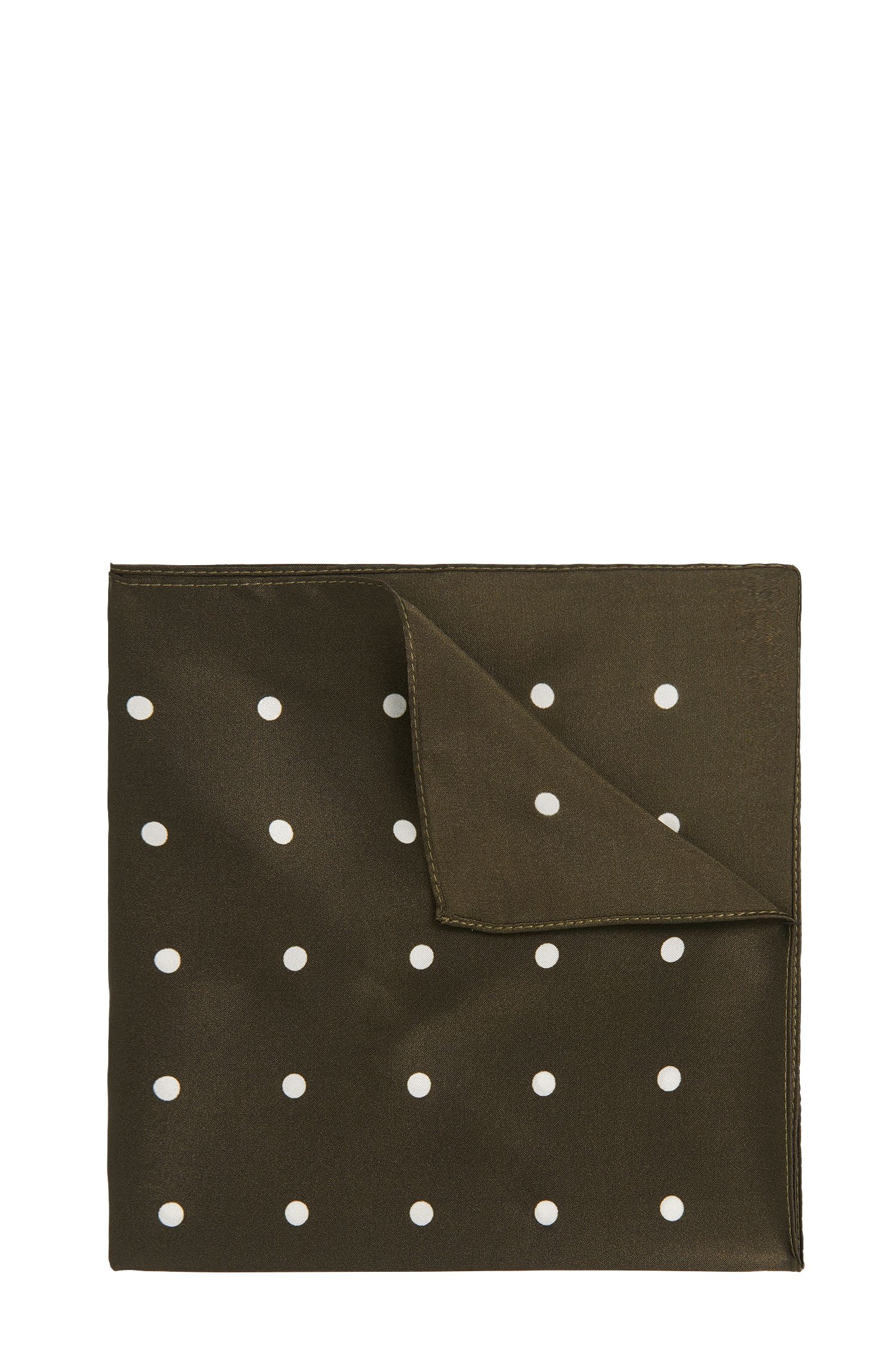 Pochette à pois en soie: «Pocket sq. cm33x33»
