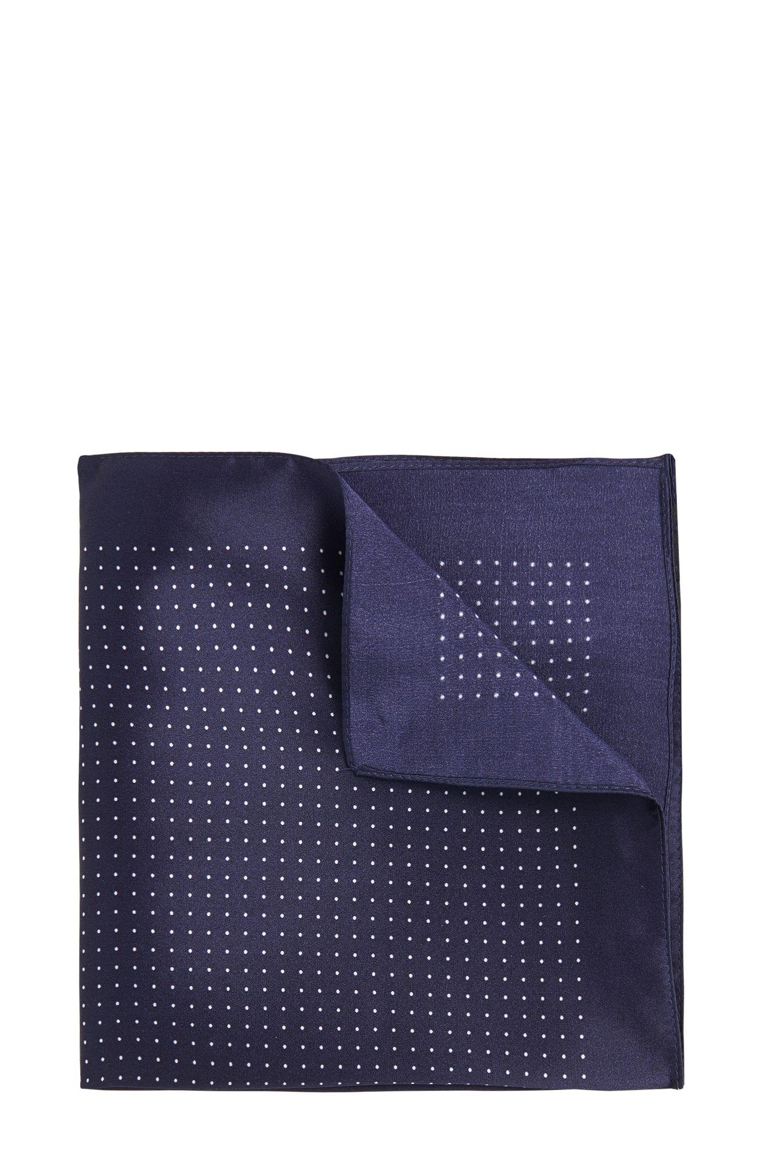 Pochette da taschino in seta con motivo a pois