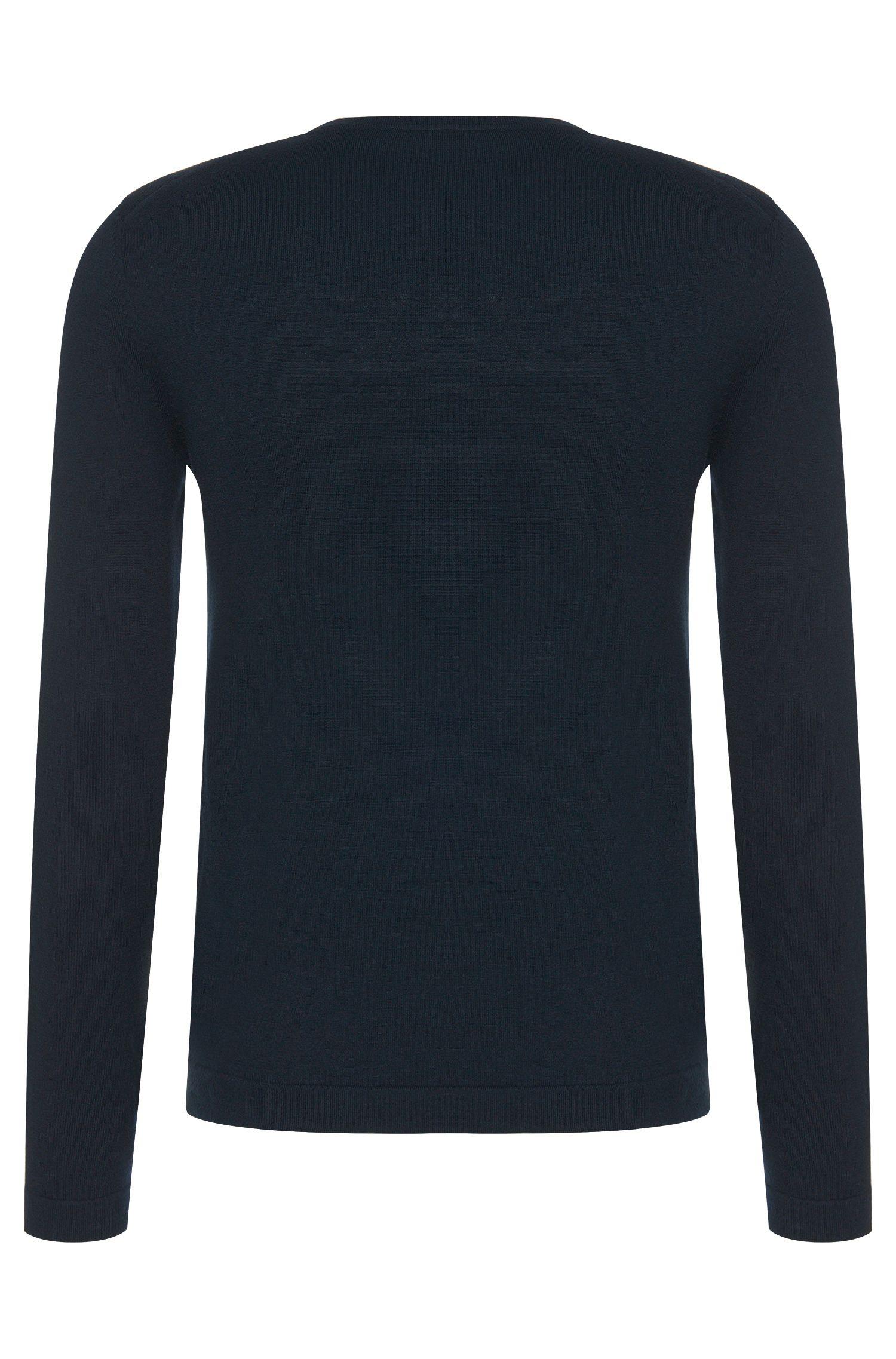 Slim-Fit Pullover aus Baumwoll-Mix mit Kaschmir-Anteil und geometrischem Front-Muster: 'Balboni'