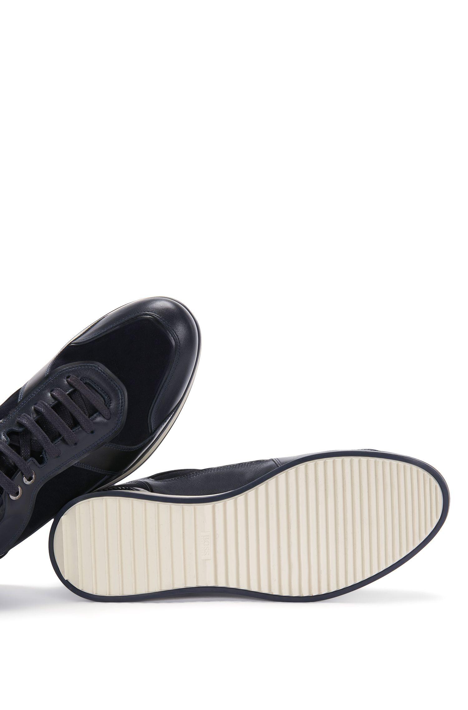 Sneakers aus Leder im Struktur-Mix: 'Heritage_Lowp_mx'