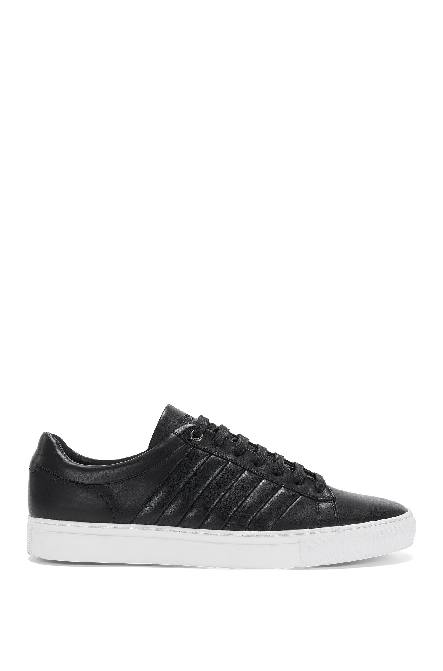 Leather trainers with fluted sections: 'Timeless_Tenn_ltma'