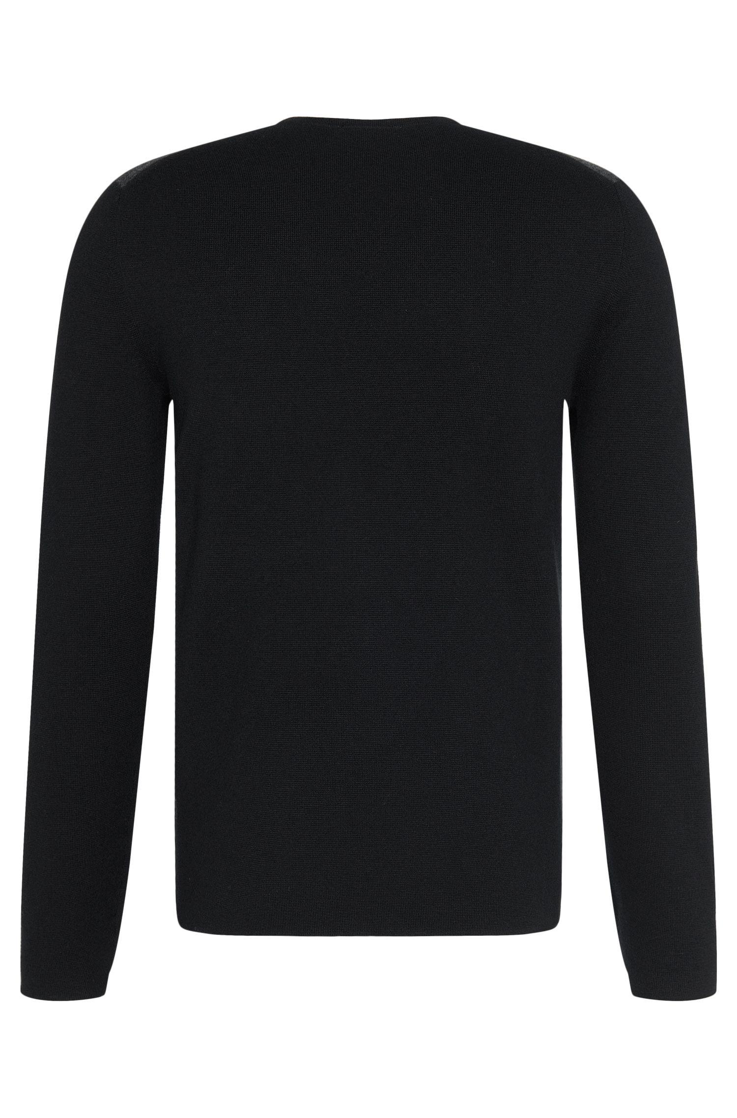 Regular-Fit Pullover aus Baumwoll-Schurwoll-Mix: 'Brevo'