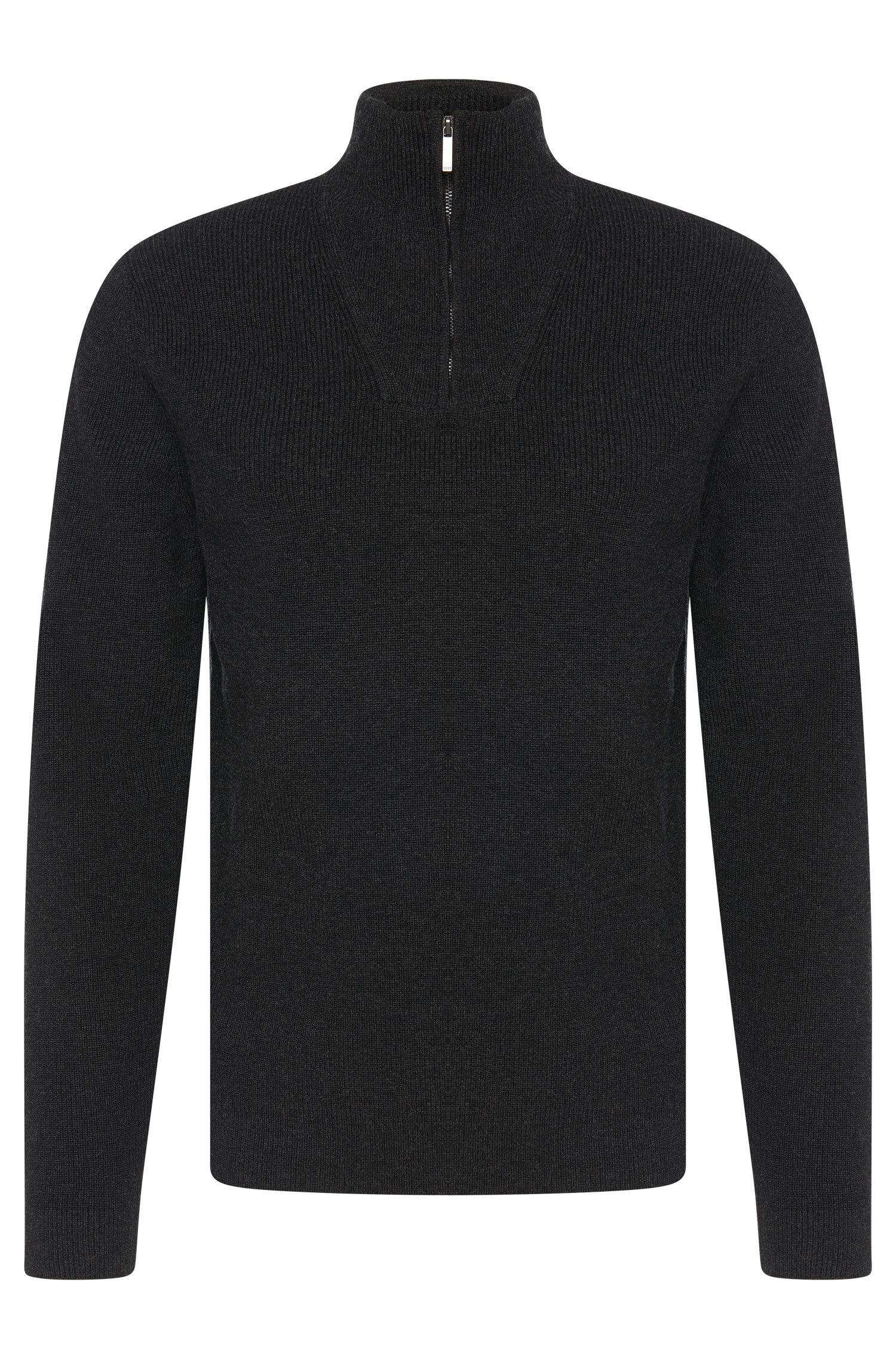 Jersey estilo Troyer en mezcla de lana virgen con algodón: 'Bacayo'