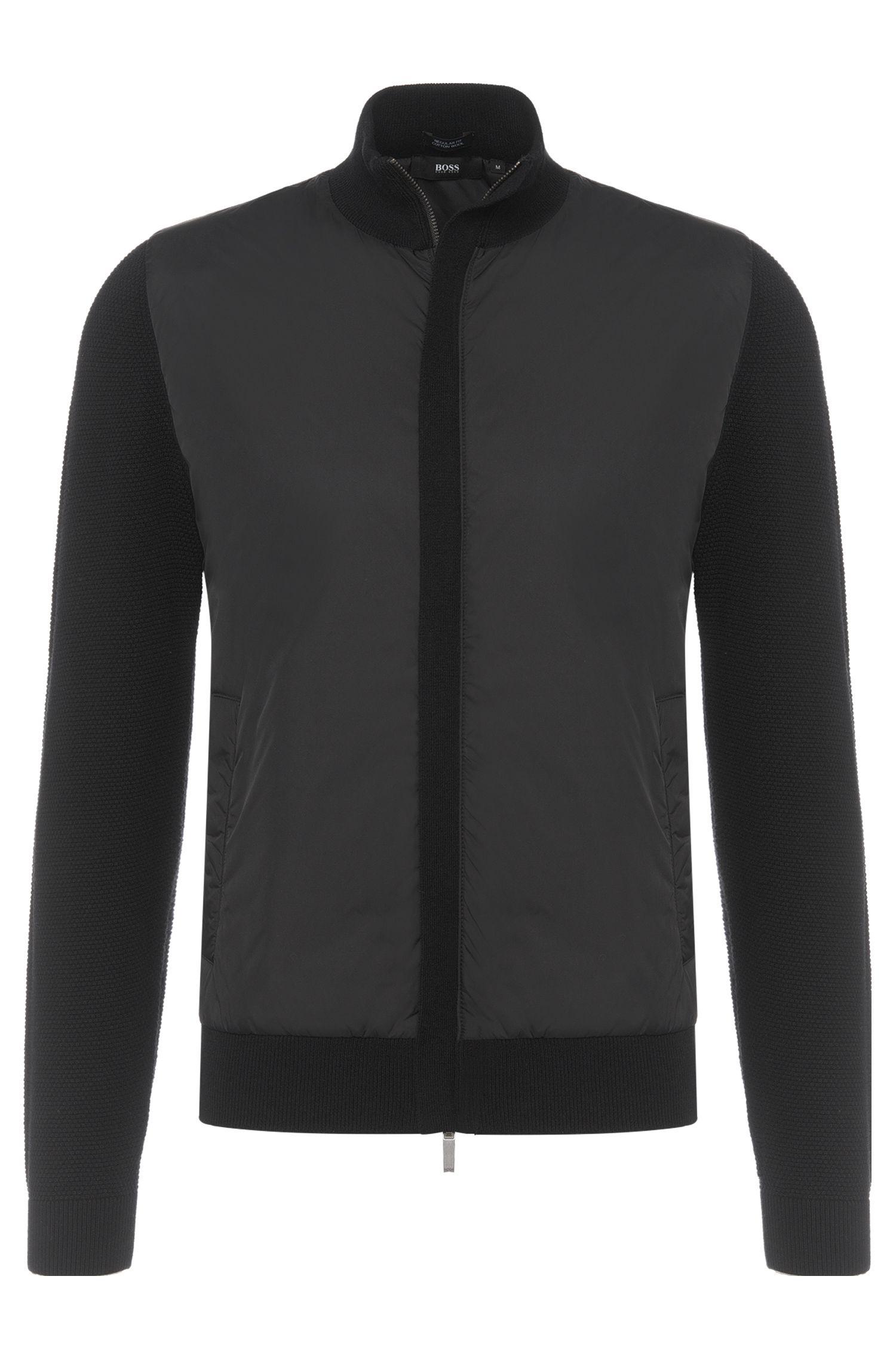 Regular-fit jas van een mix van scheerwol en katoen: 'Brugge'