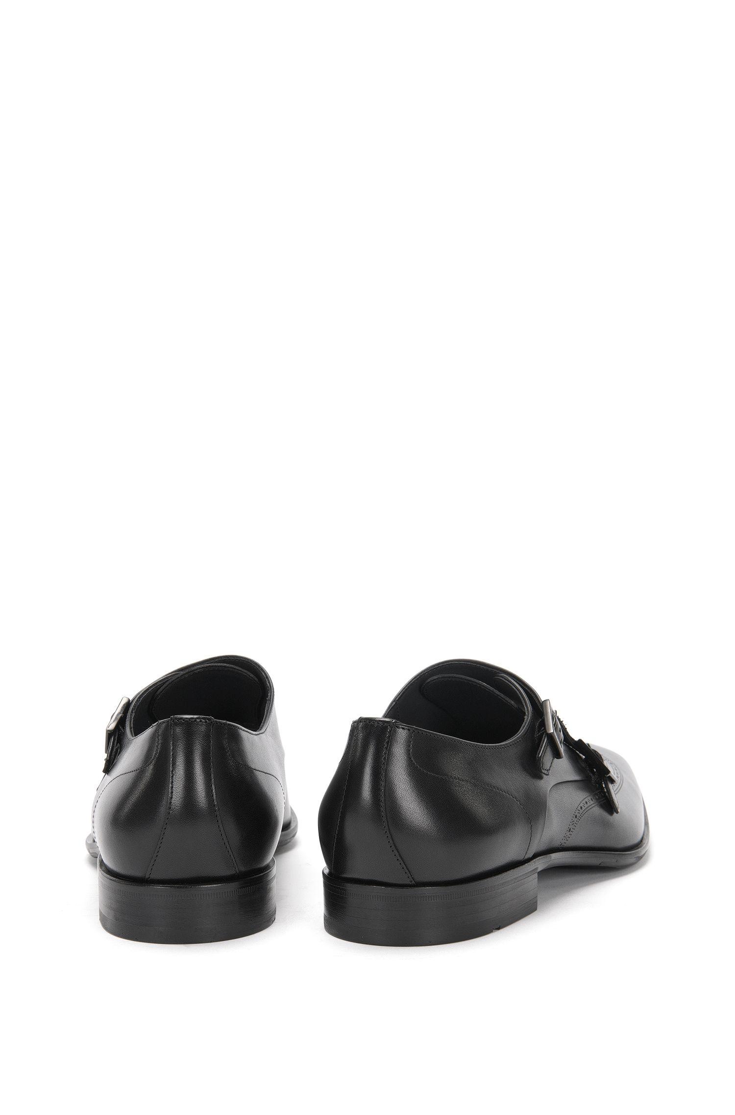 Double Monks aus Leder mit Loch-Muster: 'Chelsea_Monk_ltwt'