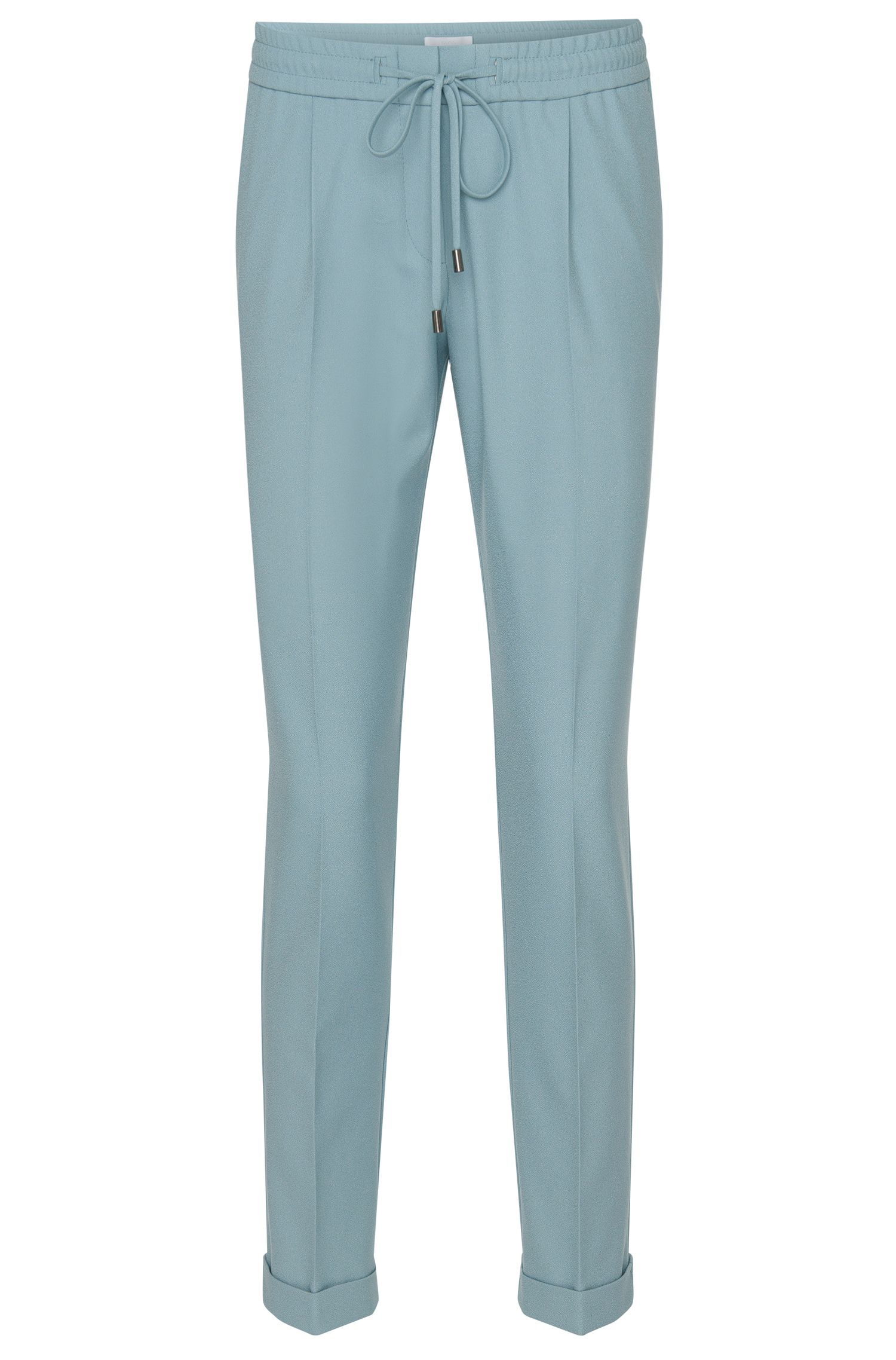 Relaxed-fit broek in cropped-lengte met elastische band: 'Ariyana8'