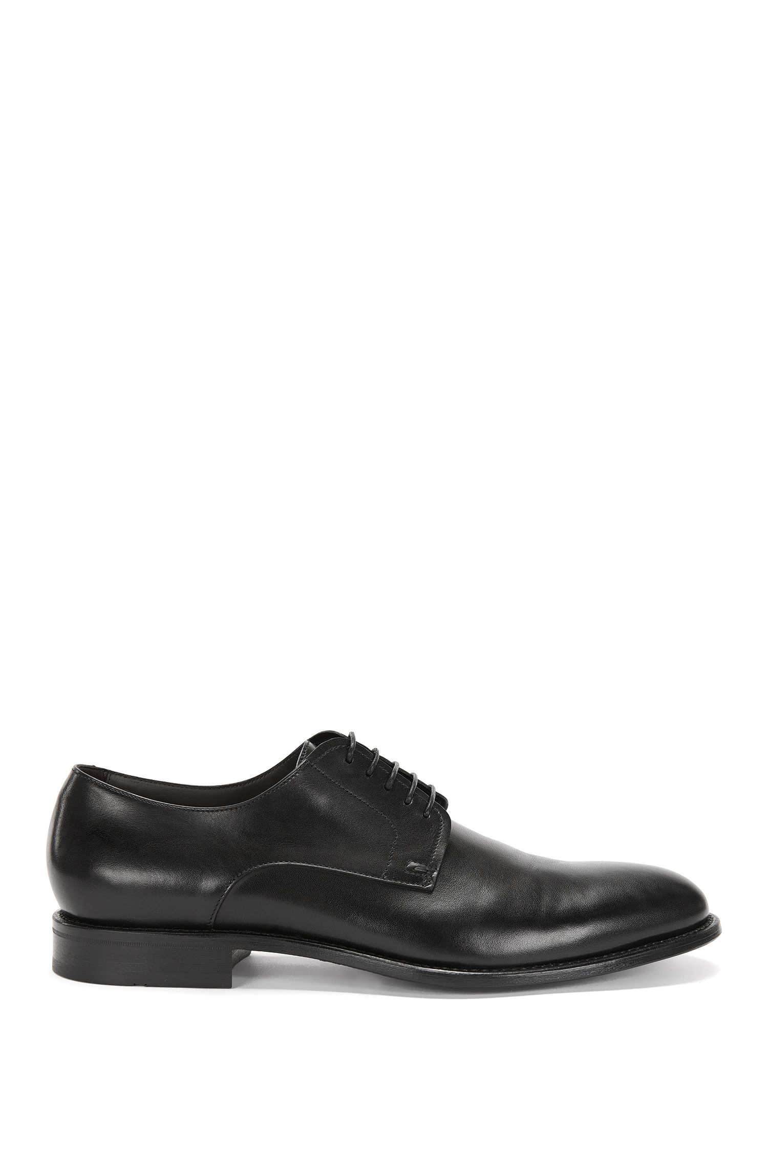 Leather lace-up shoes in Derby style: 'Stockholm_Derb_ltpt'