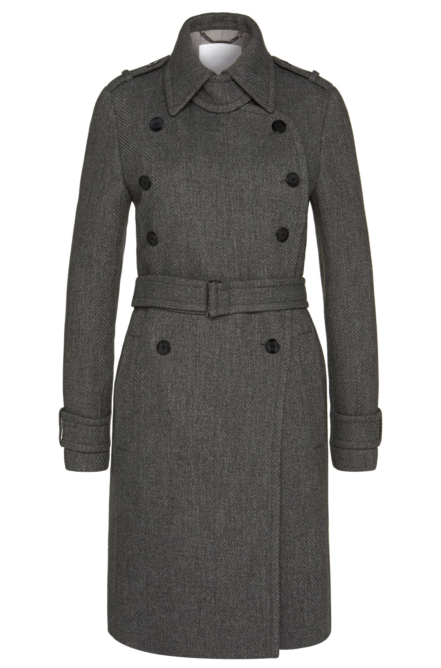 Military-style coat in new wool blend: 'Canora'