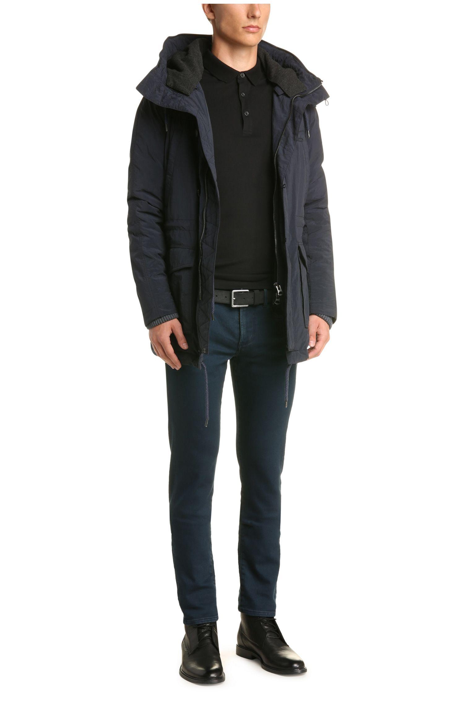 Texturiertes Slim-Fit Polo aus Baumwolle mit Elasthan: ´Pavlik`