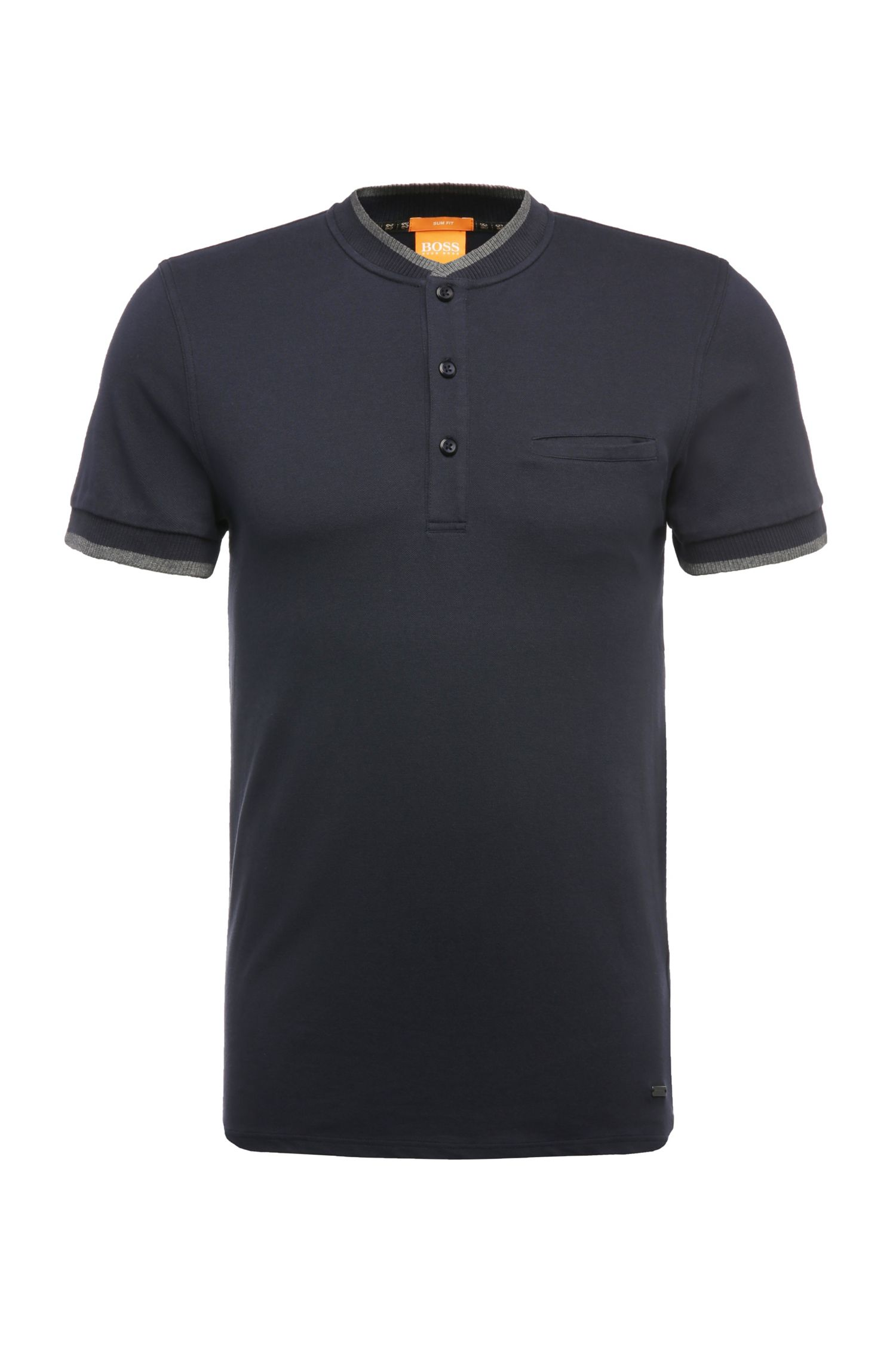 Polo Regular Fit en coton mélangé extensible : « Pyn »