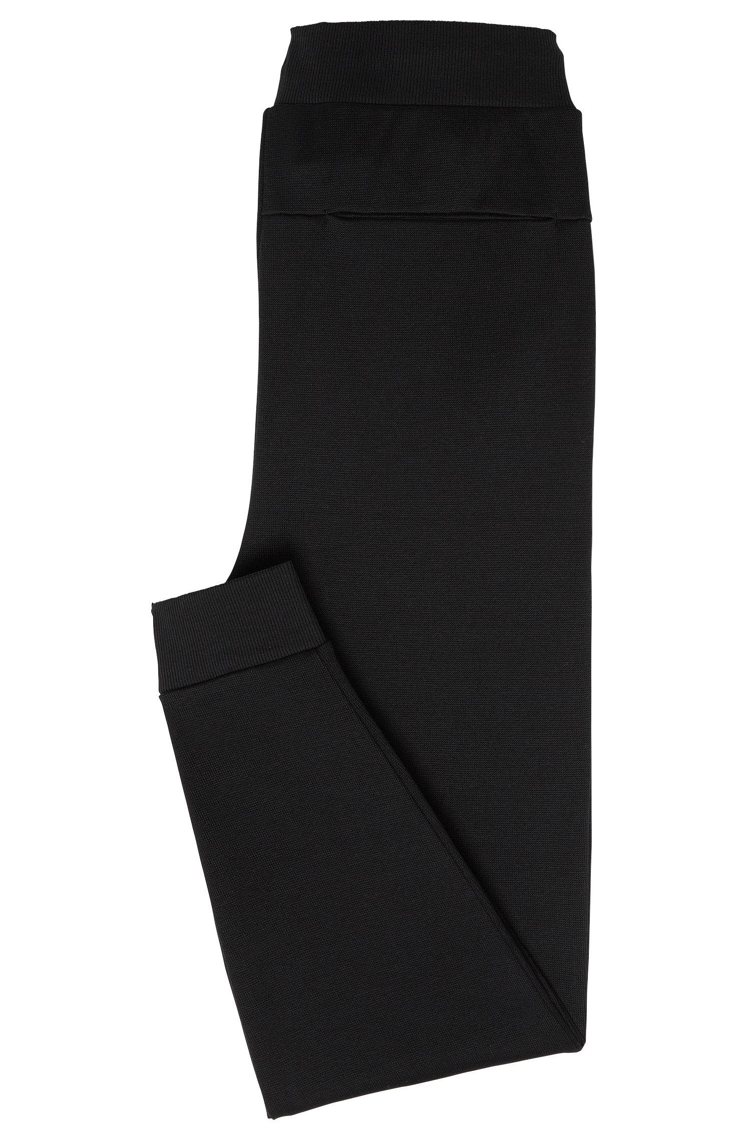 Pantalon sweat Regular Fit en coton doté d'une ceinture avec un cordon de serrage: «Daboso»