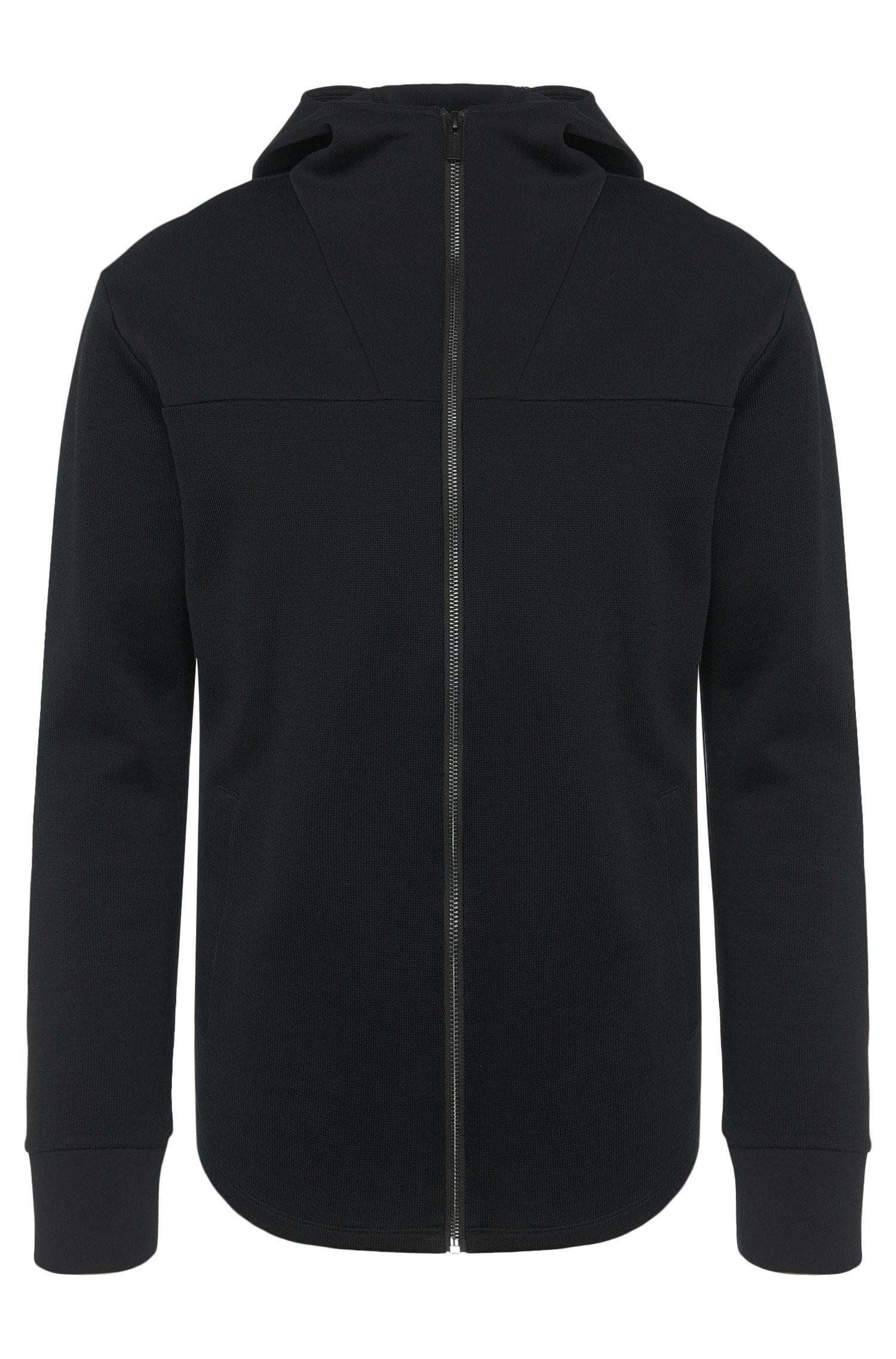 Loose-Fit Sweatshirtjacke aus Baumwolle mit Kapuze: 'Dabrusco'