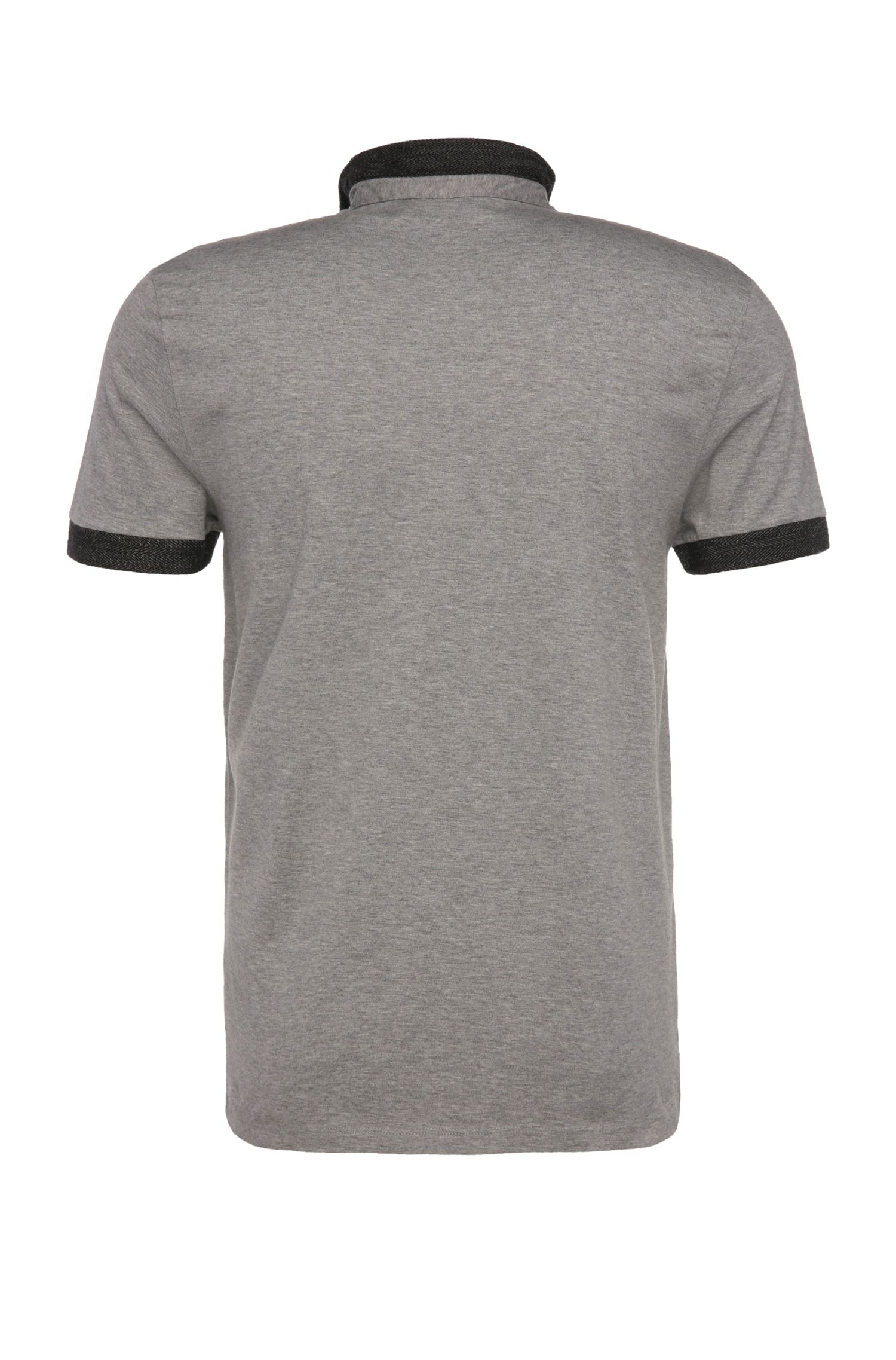 Slim-Fit Baumwollpoloshirt mit Kontrast-Kragen: ´Pinto`