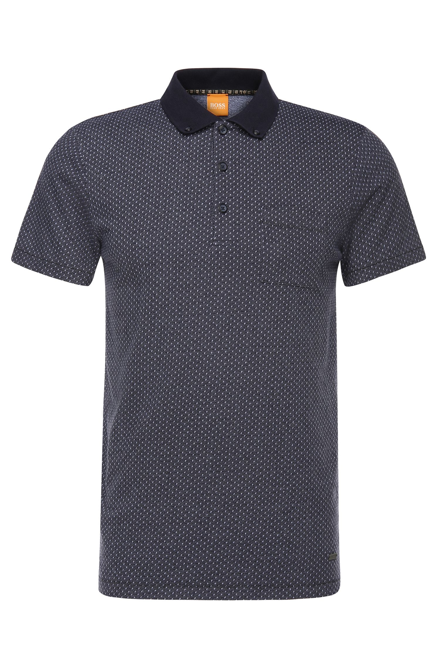 Polo slim fit in cotone con percentuale di elastan: 'Picktown'