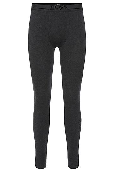 Lange Unterhose aus Stretch-Baumwolle: 'Long John 24 Logo', Anthrazit