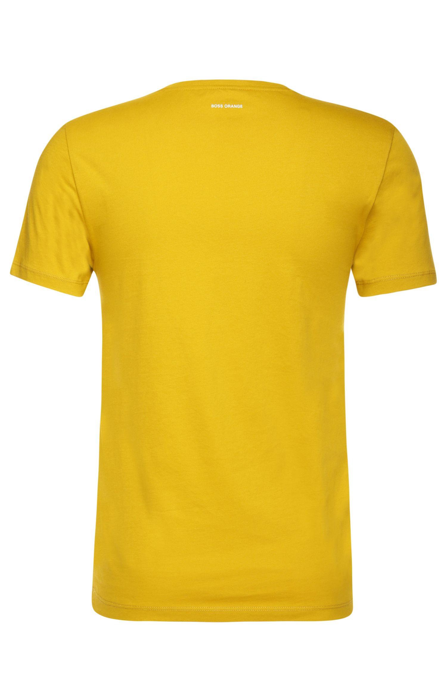 T-shirt Slim Fit en coton à motif nature: «Tommi 2»