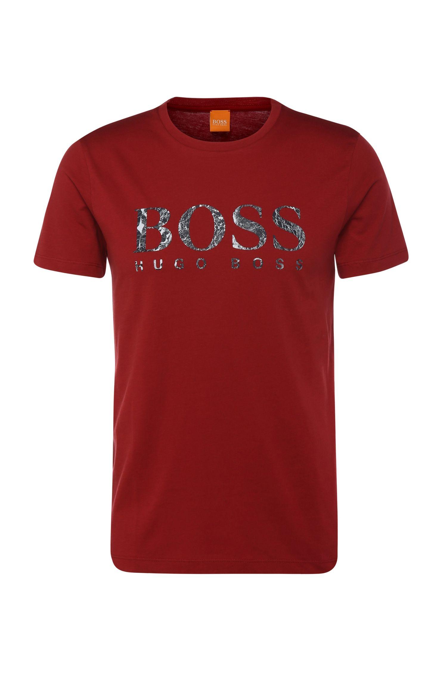 T-shirt van zuivere katoen met logoprint: 'Tommi 3'