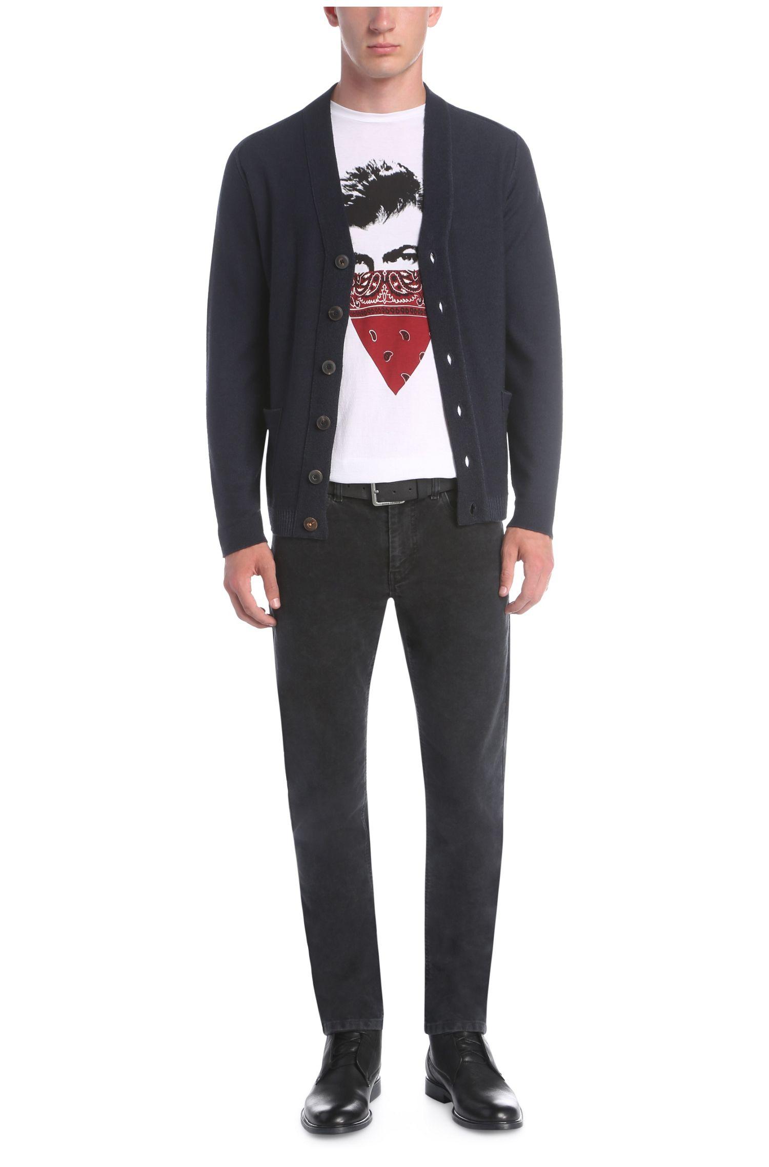Slim-Fit Print-Shirt aus Pima-Baumwolle: ´Tayé 1`