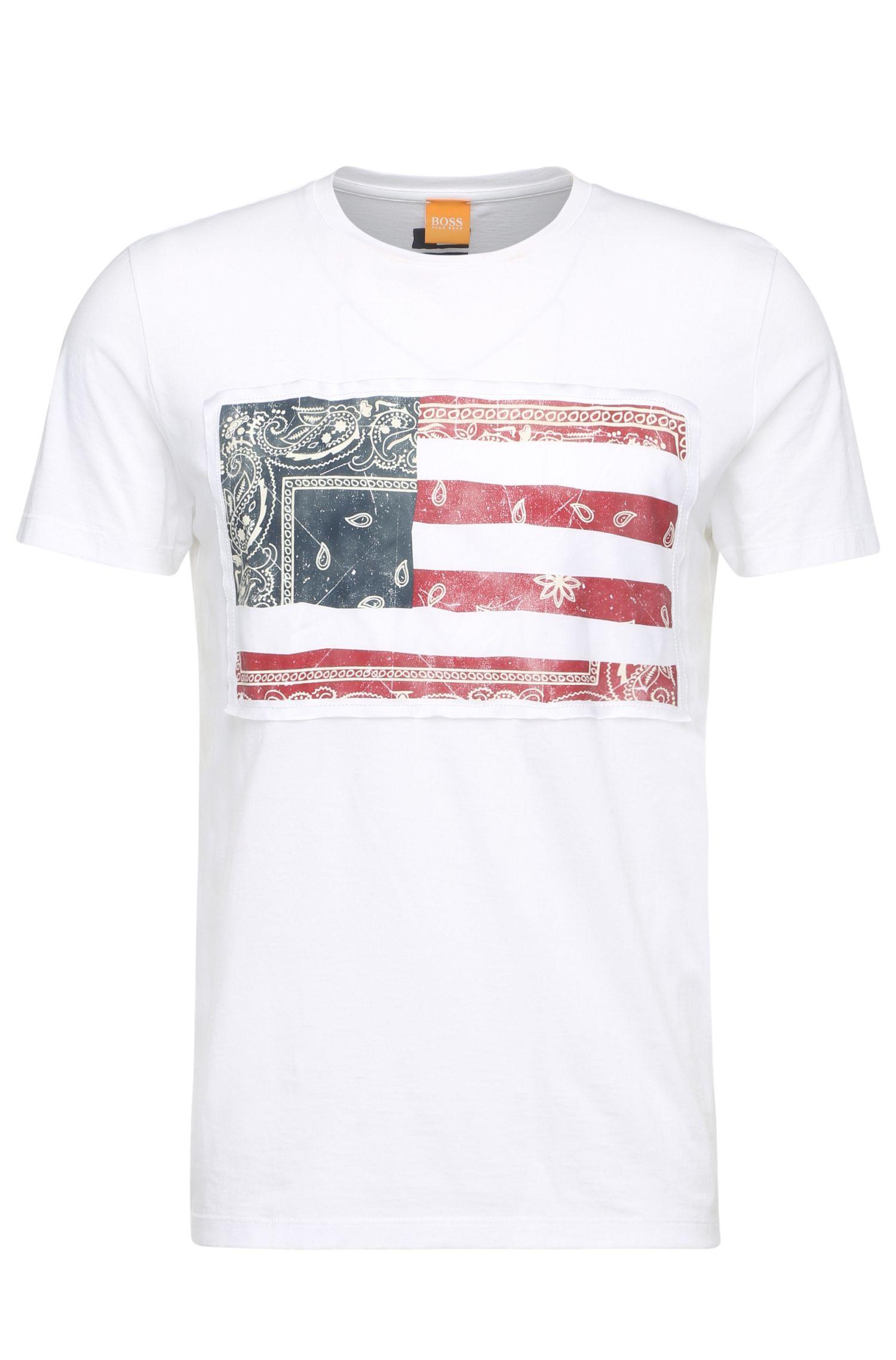 T-shirt comfort fit in cotone con stampa del logo cucita: 'Tayé 2'