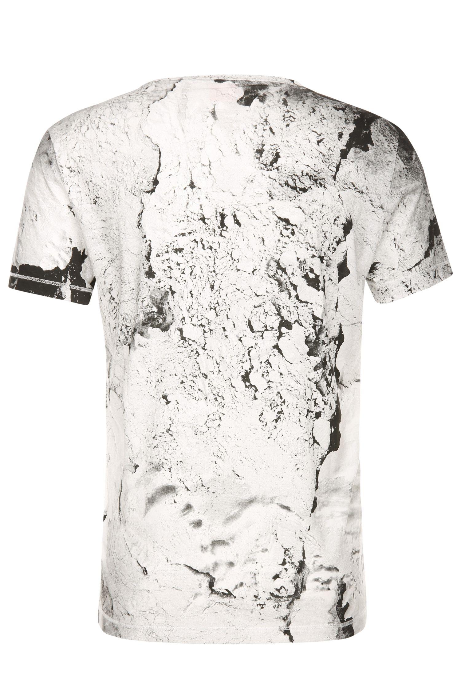 T-Shirt aus Baumwolle mit Print in marmorierter Optik: ´Tayé 4`