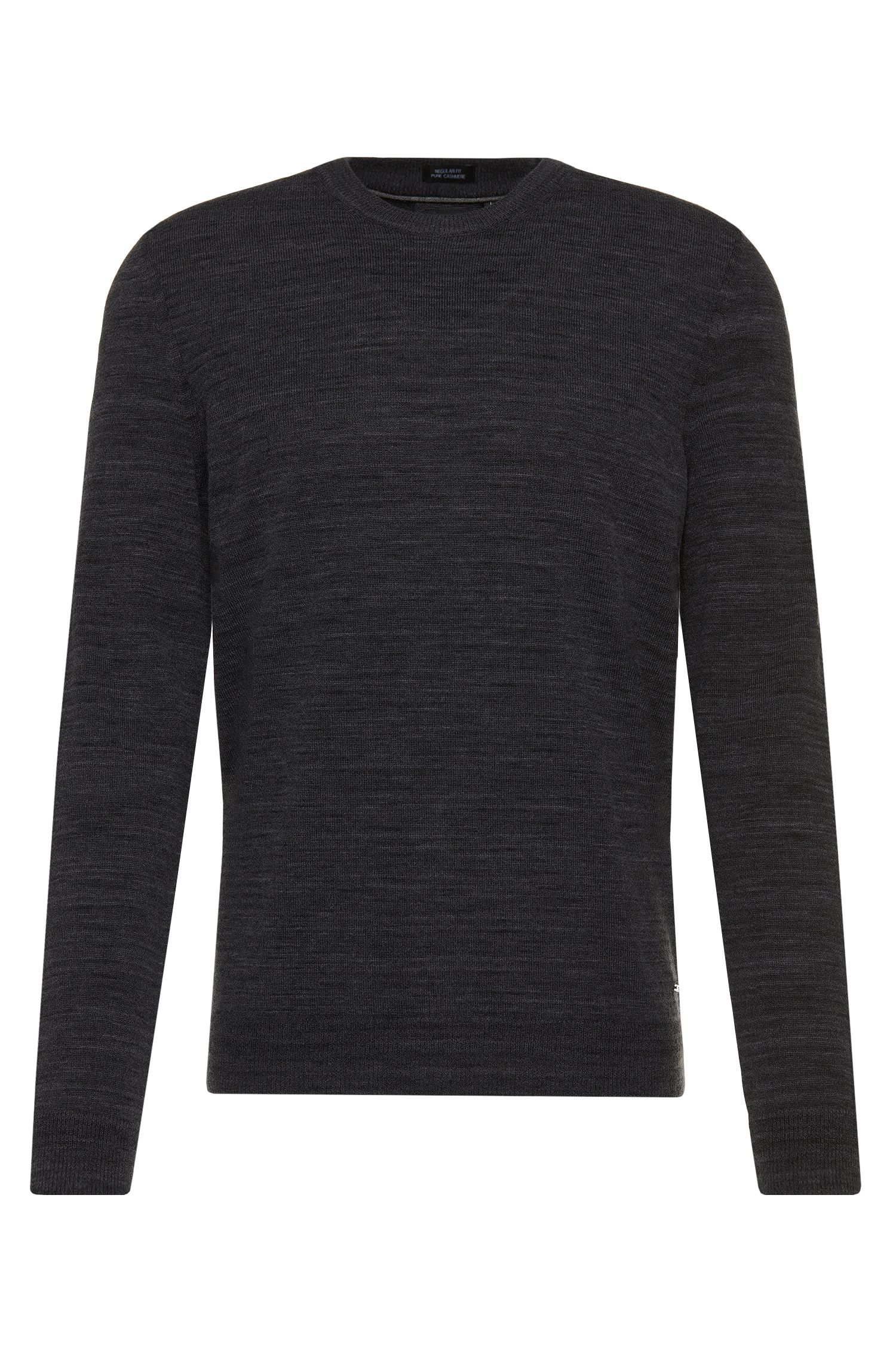 Pull Regular Fit Tailored en pur cachemire chiné : « T-Barno »