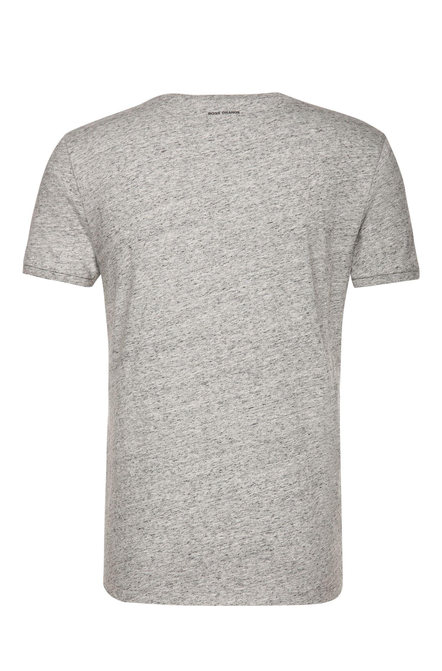 T-shirt Slim Fit à imprimé et surpiqûres: «Tavoon 2»