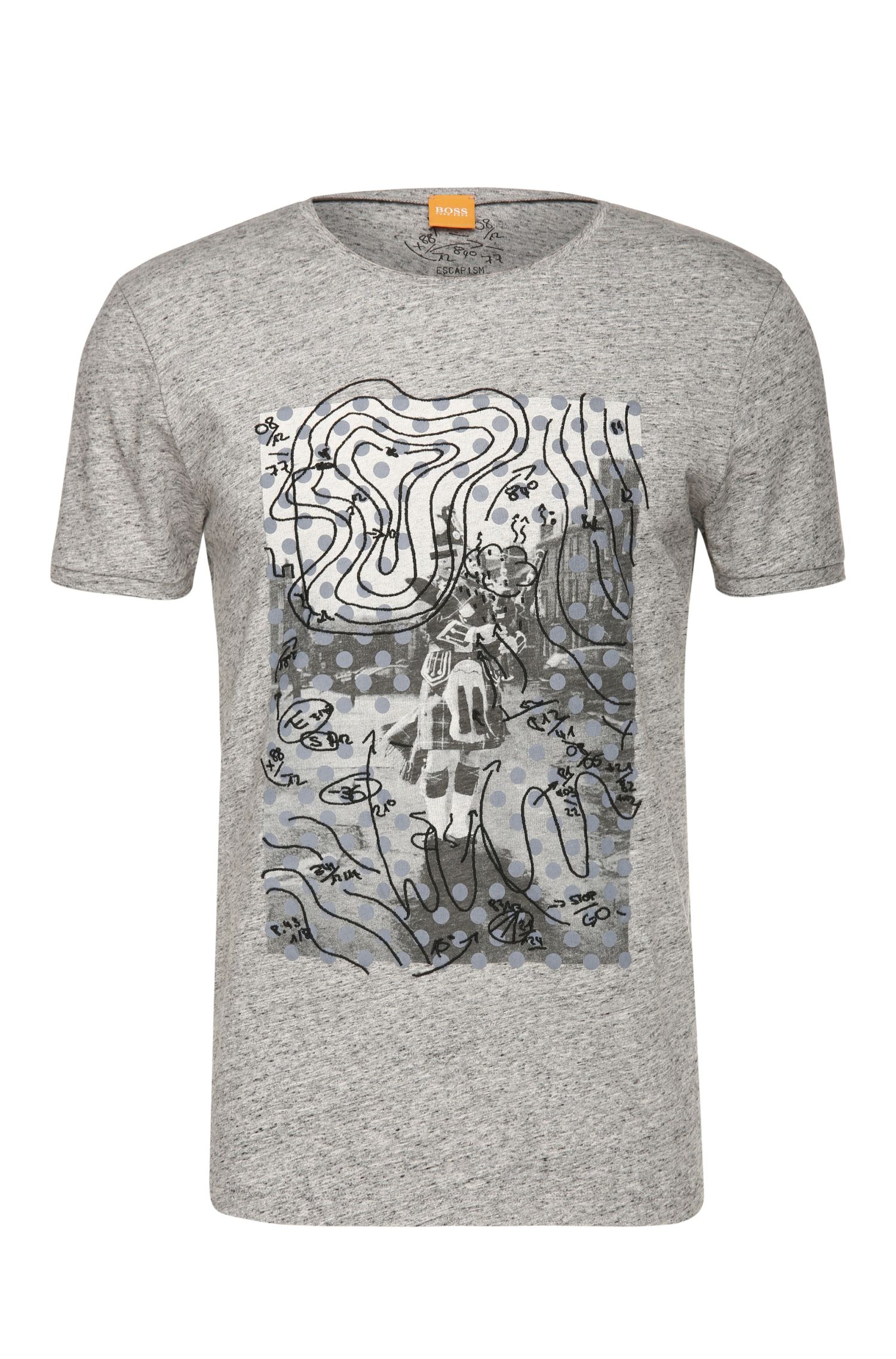 Slim-Fit T-Shirt mit Print und Stitchings: ´Tavoon 2`