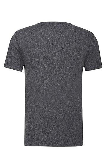 Slim-Fit T-Shirt aus melierter Baumwolle: ´Tabary`, Dunkelblau