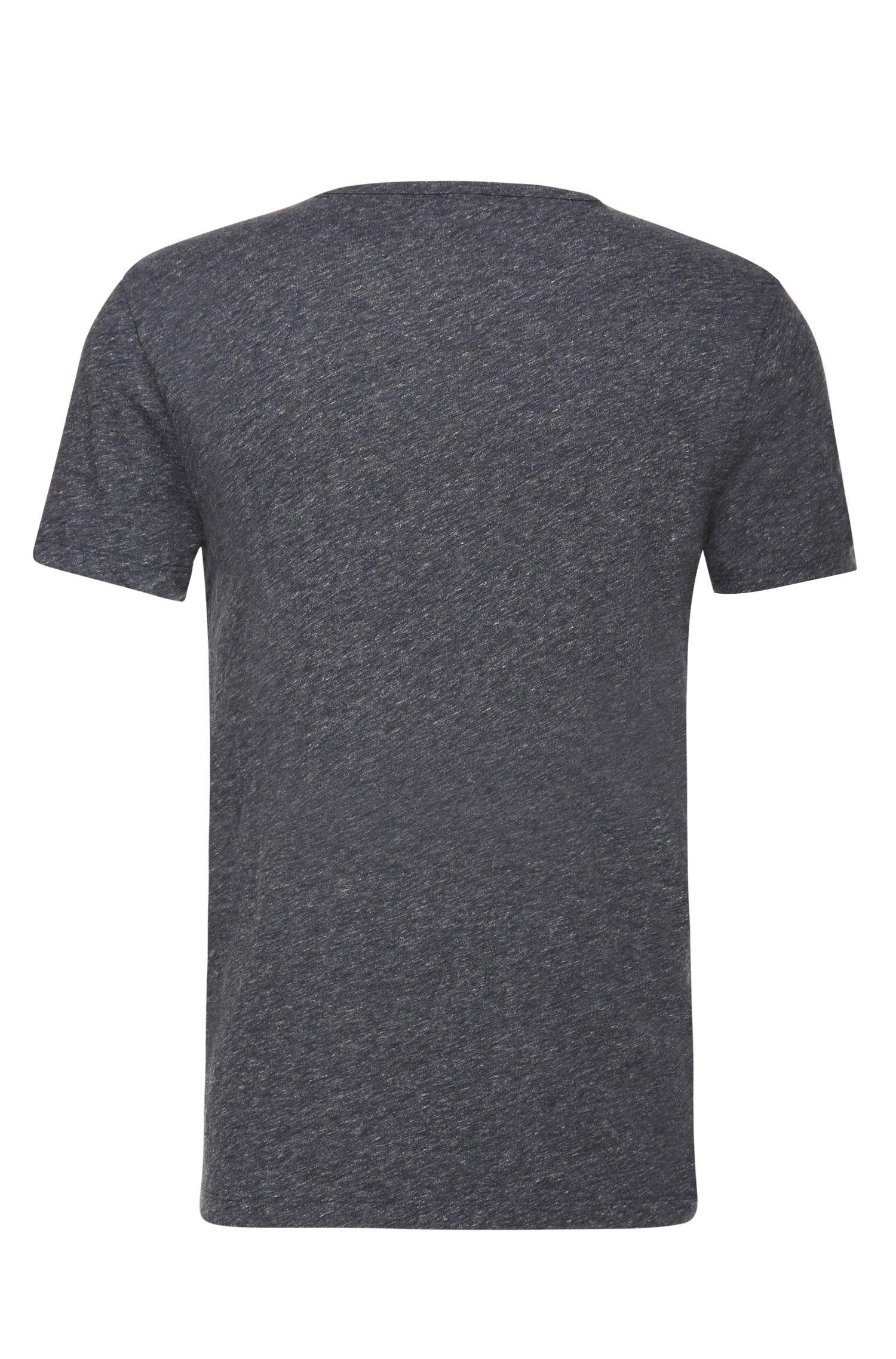 Slim-Fit T-Shirt aus melierter Baumwolle: ´Tabary`