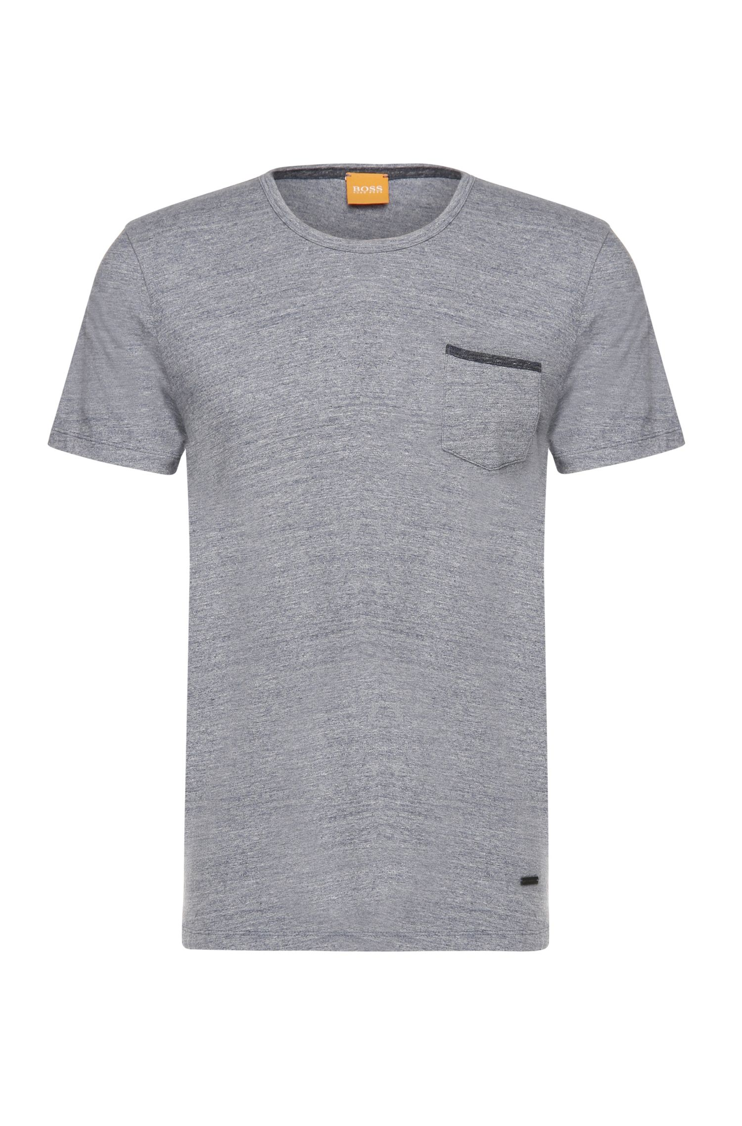 T-shirt Slim Fit en coton chiné : « Tabary »