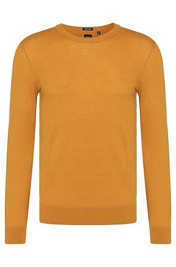 Regular-Fit Tailored Pullover aus Kaschmir: 'T-Borello', Gelb