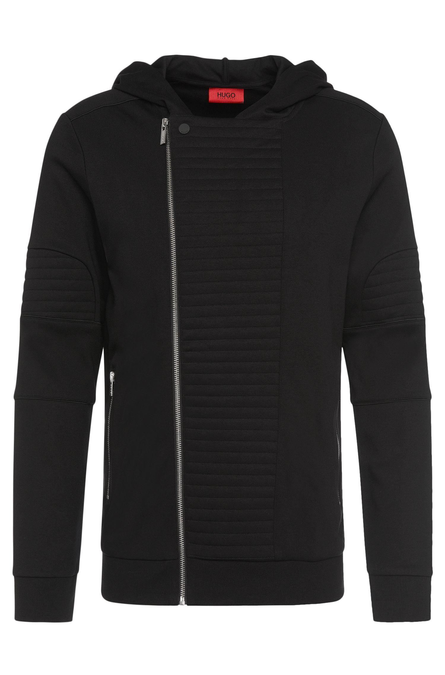 Blouson sweat Regular Fit de style motard en coton : « Dorlando »
