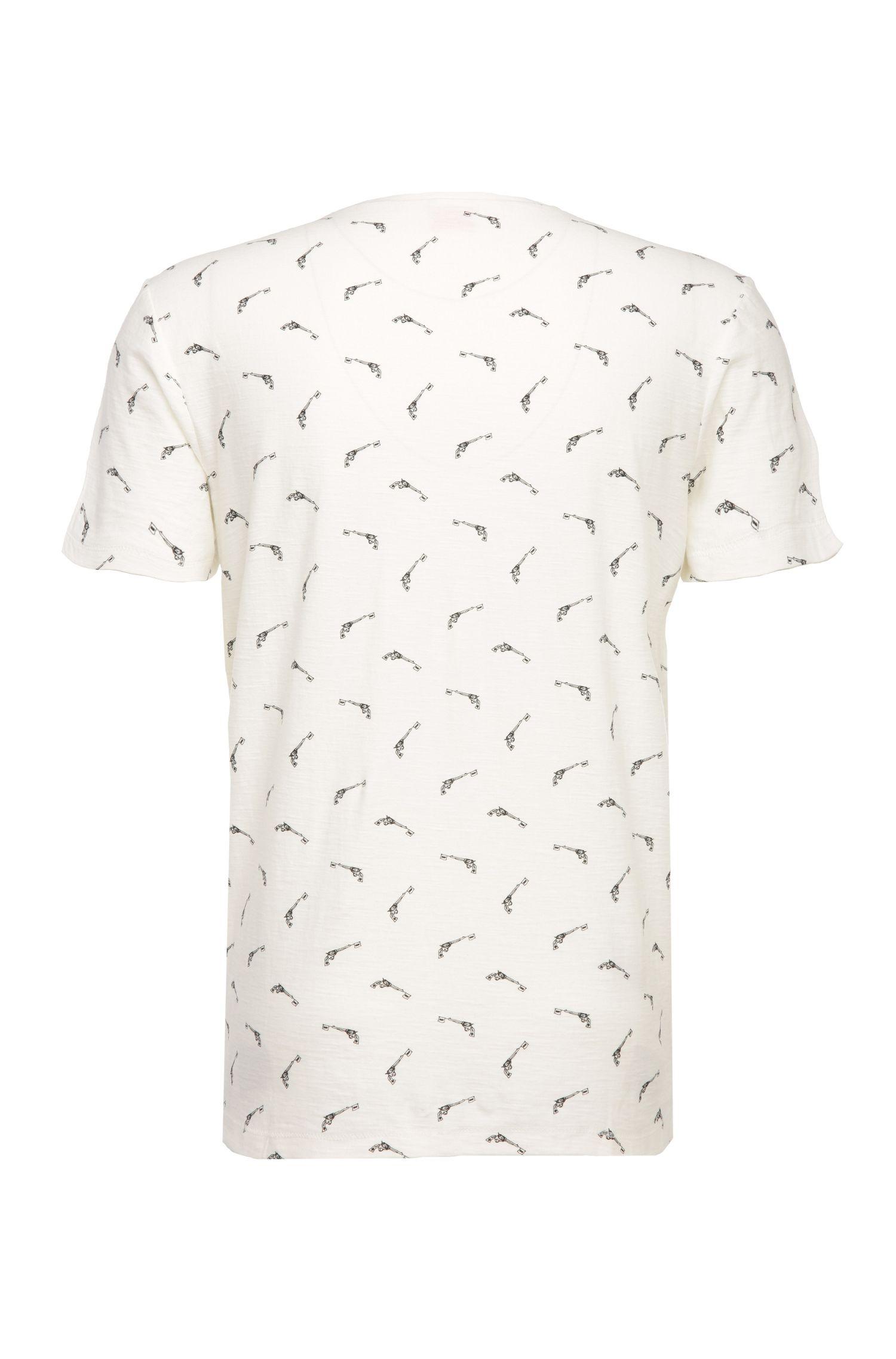 Regular-fit shirt van katoen met print: 'Thien'
