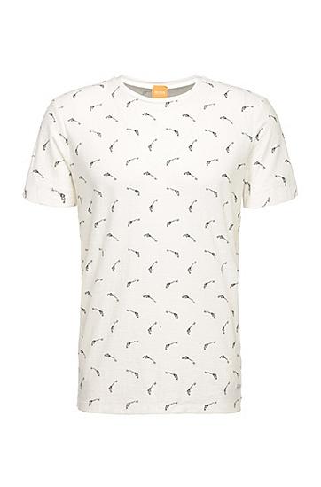 Regular-Fit Print-Shirt aus Baumwolle: ´Thien`, Natur