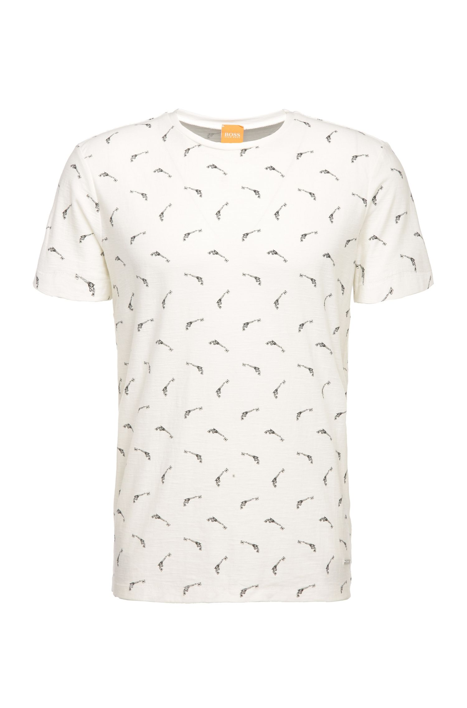 Regular-fit print t-shirt in cotton: 'Thien'