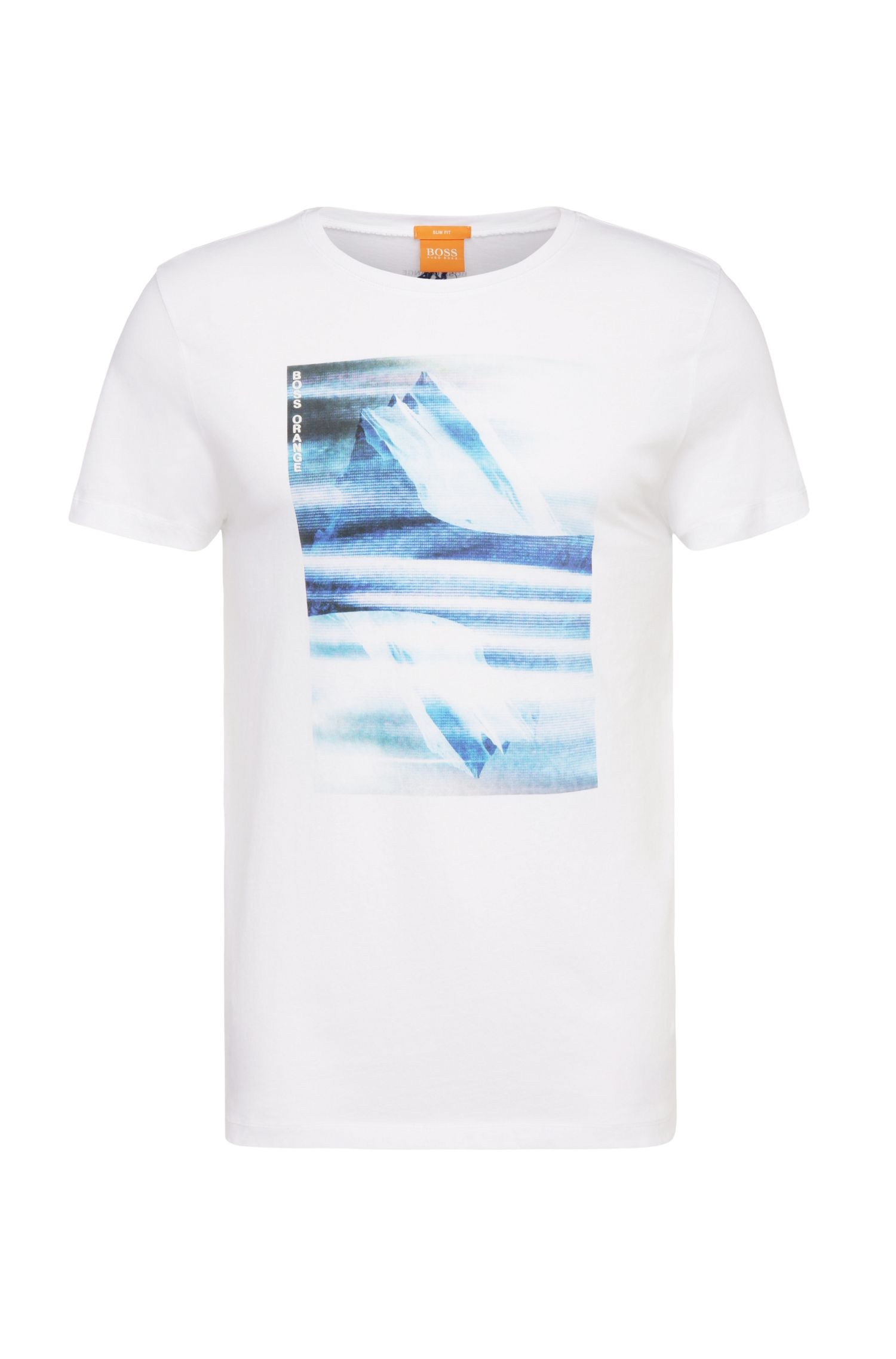 Printed slim-fit t-shirt in cotton: 'Tygo 2'