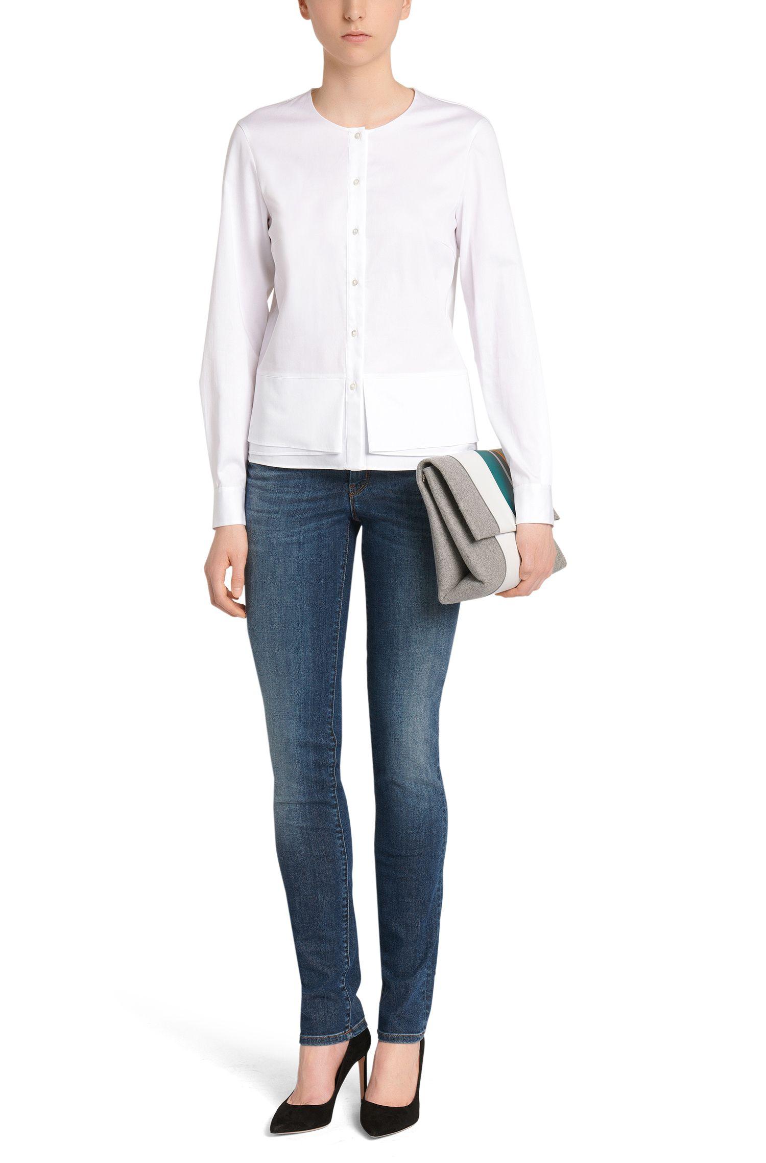 Jeans Regular Fit en coton extensible avec jambe droite. «Nevila»