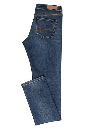 Regular-Fit Jeans aus Stretch-Baumwolle mit geradem Beinverlauf: 'Nevila', Blau