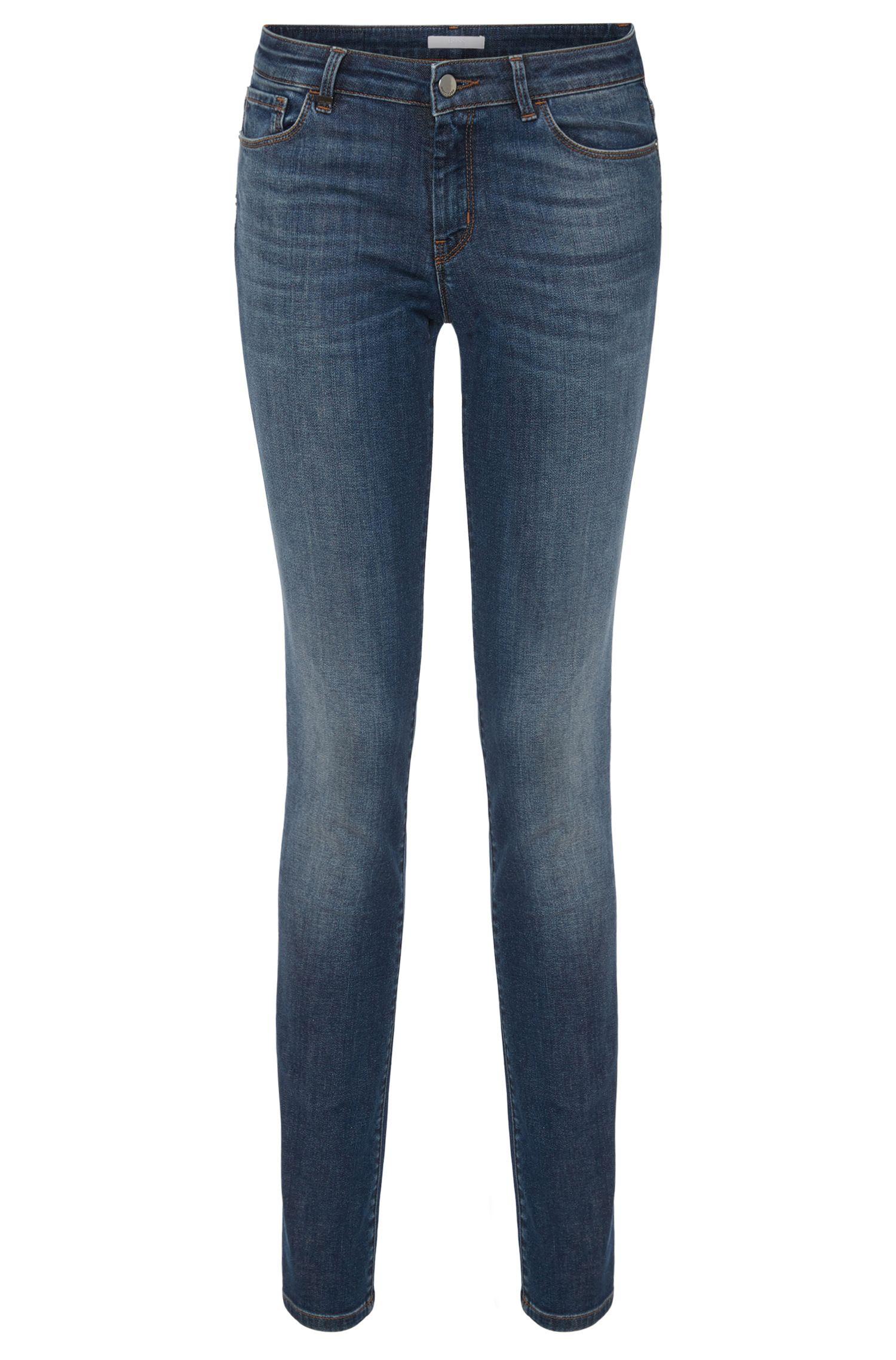 Regular-Fit Jeans aus Stretch-Baumwolle mit geradem Beinverlauf: 'Nevila'