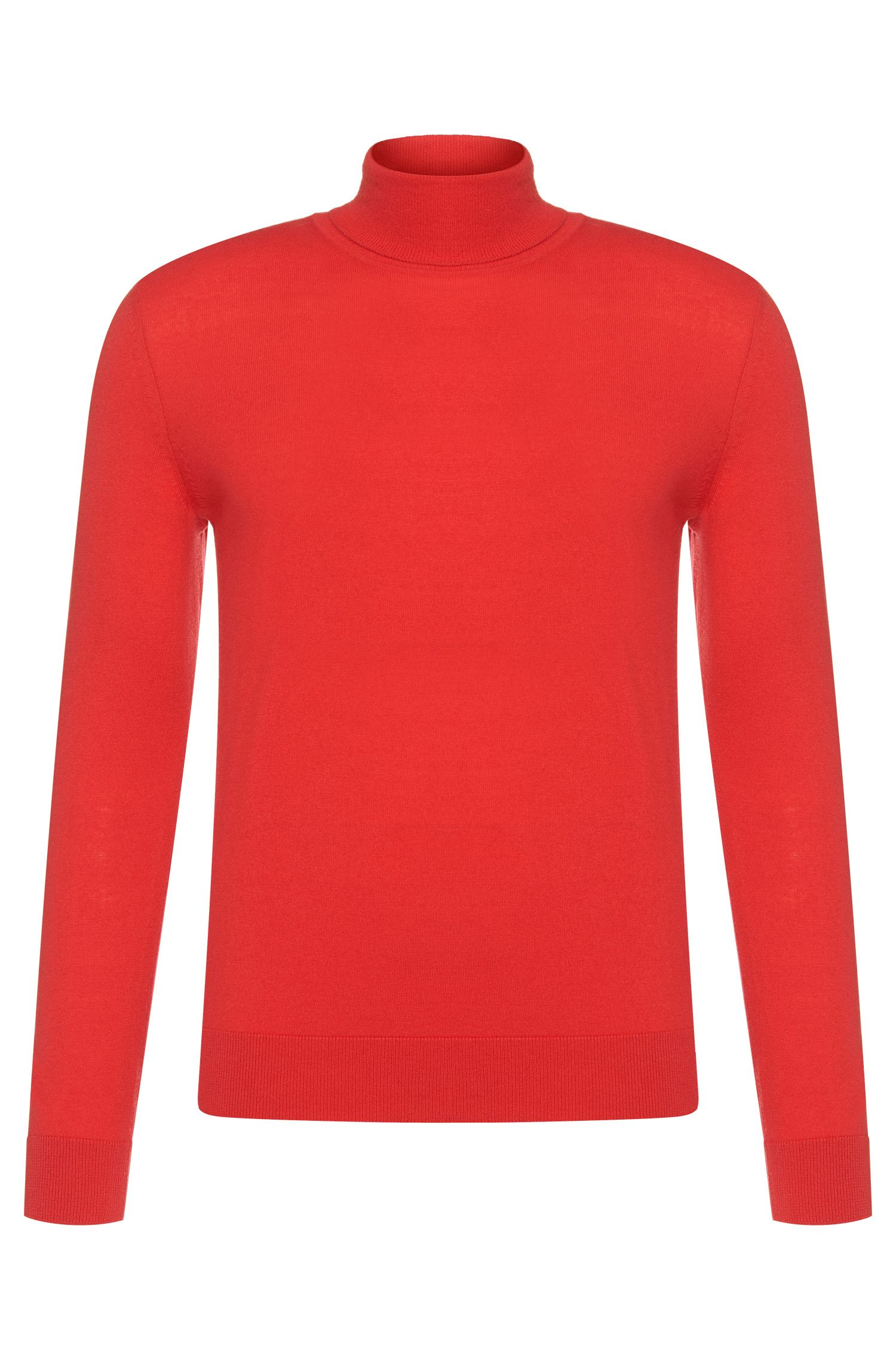 Regular-fit Tailored polo neck sweater in cashmere: 'T-Bernardo'