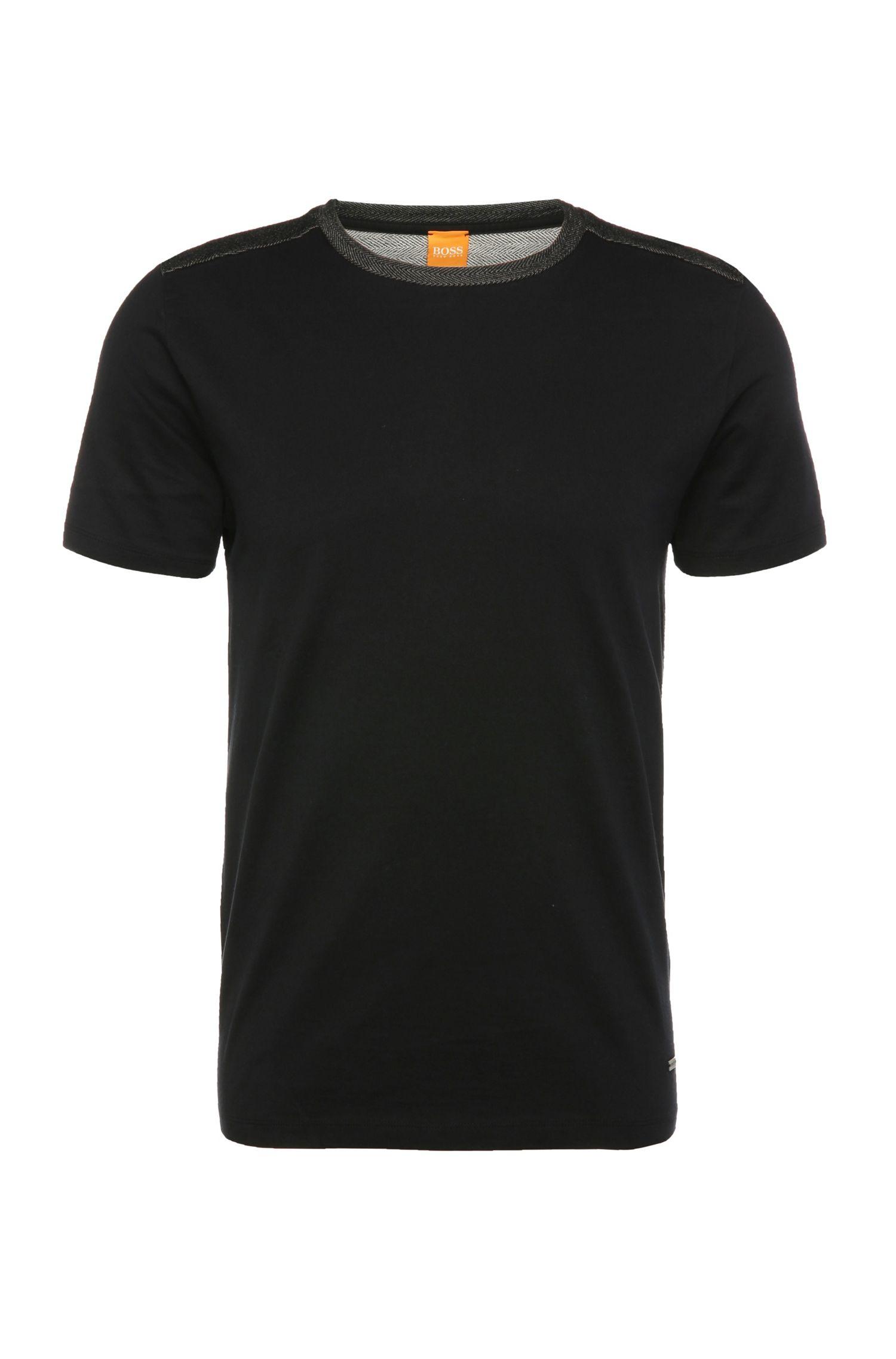 Regular-fit T-shirt van katoen: 'Trike'